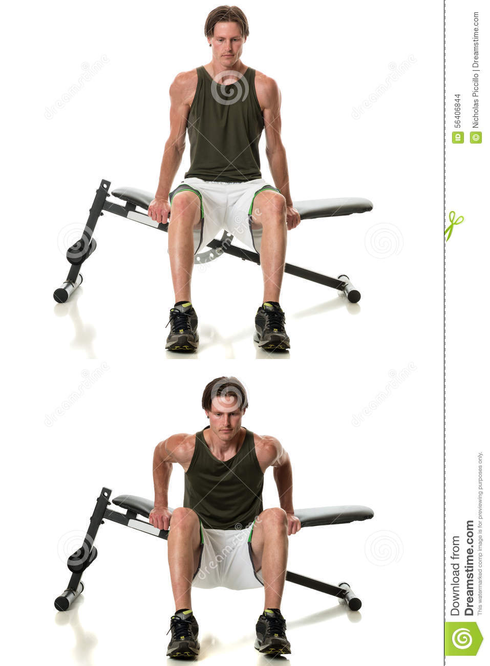 Miraculous Bench Dip Stock Photo Image Of Muscle Sports Body 56406844 Pdpeps Interior Chair Design Pdpepsorg