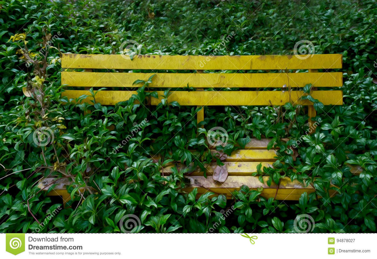 Download Bench with grass stock image. Image of rough, dirty, wild - 94878027