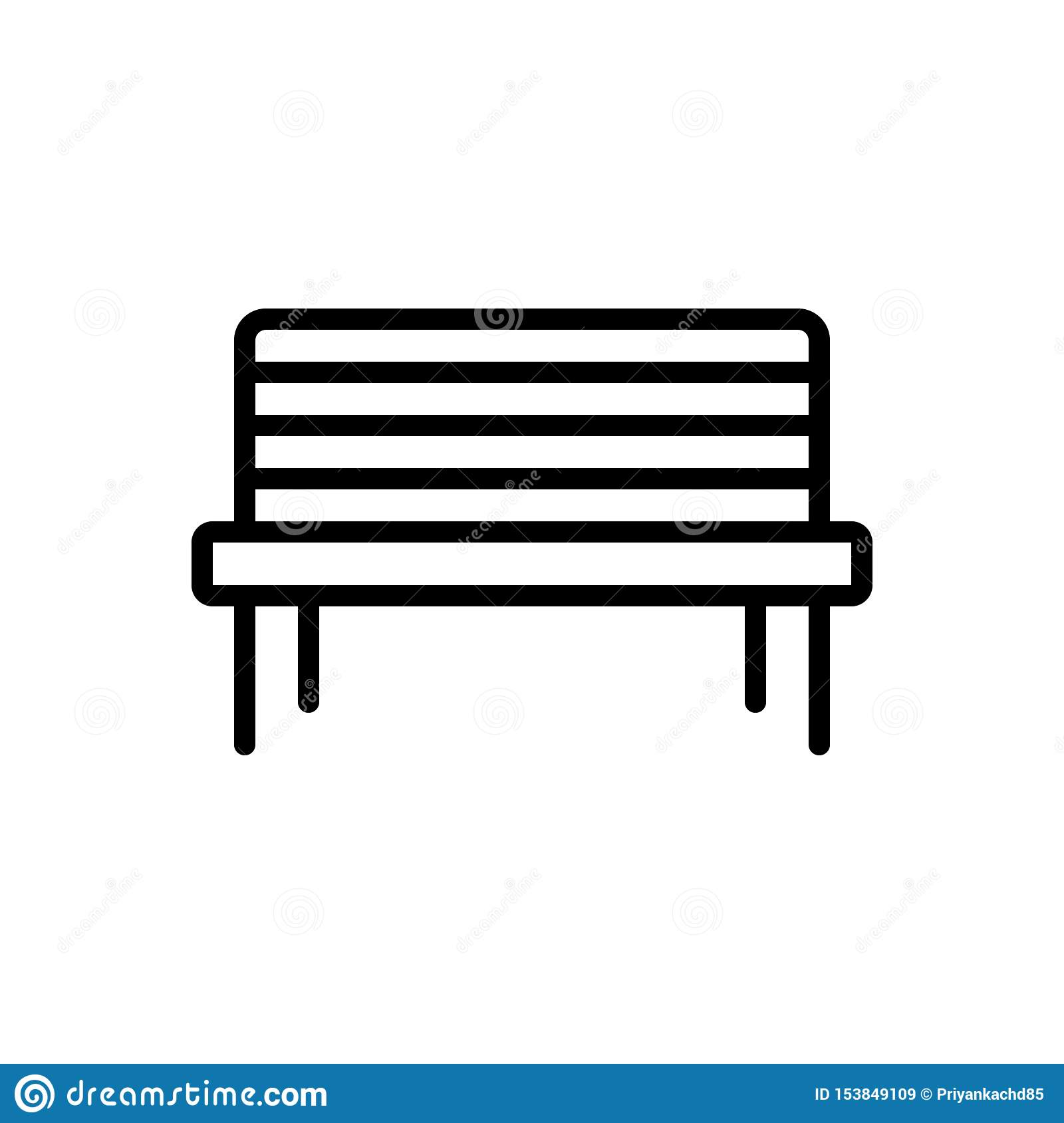 Remarkable Black Line Icon For Bench Pew And Furniture Stock Andrewgaddart Wooden Chair Designs For Living Room Andrewgaddartcom