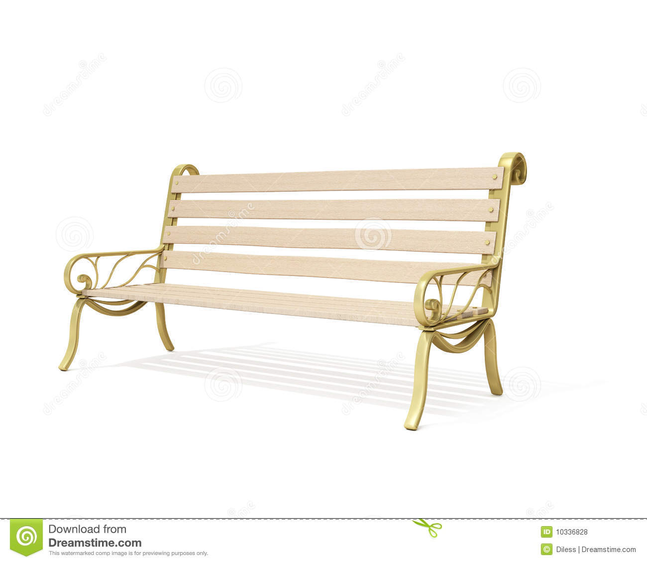 Bench Isolated Royalty Free Stock Photos Image 10336828