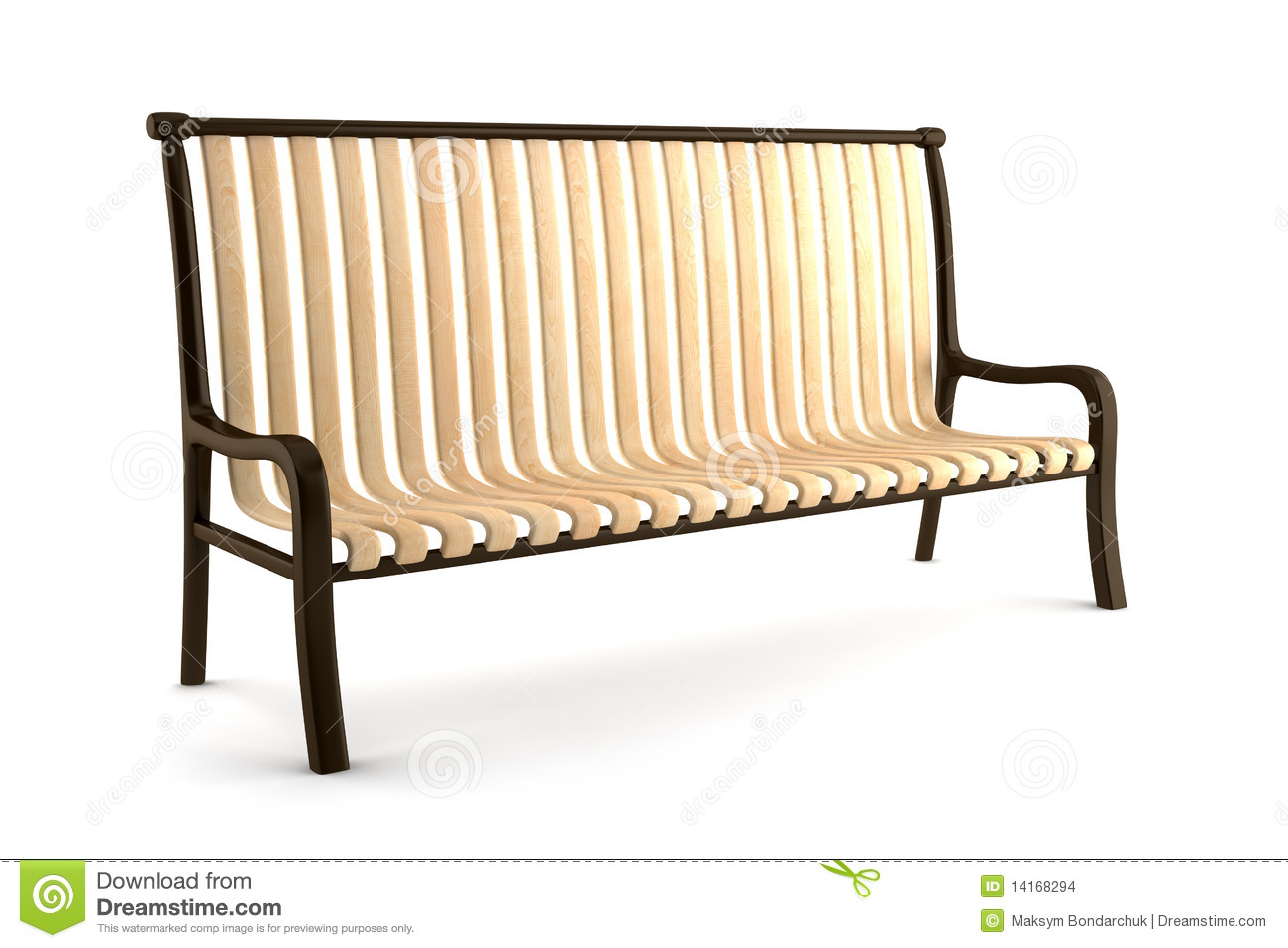 Bench Isolated On White Background Stock Illustration