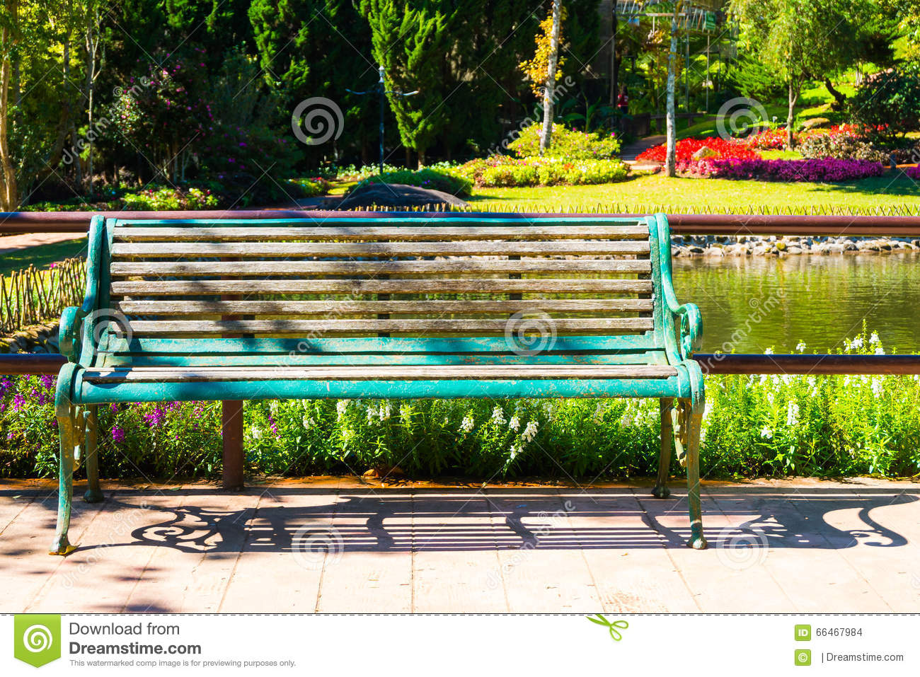 A Bench In The Park With Blurry Background Stock Photo - Image of ... for Park Background With Bench  75sfw