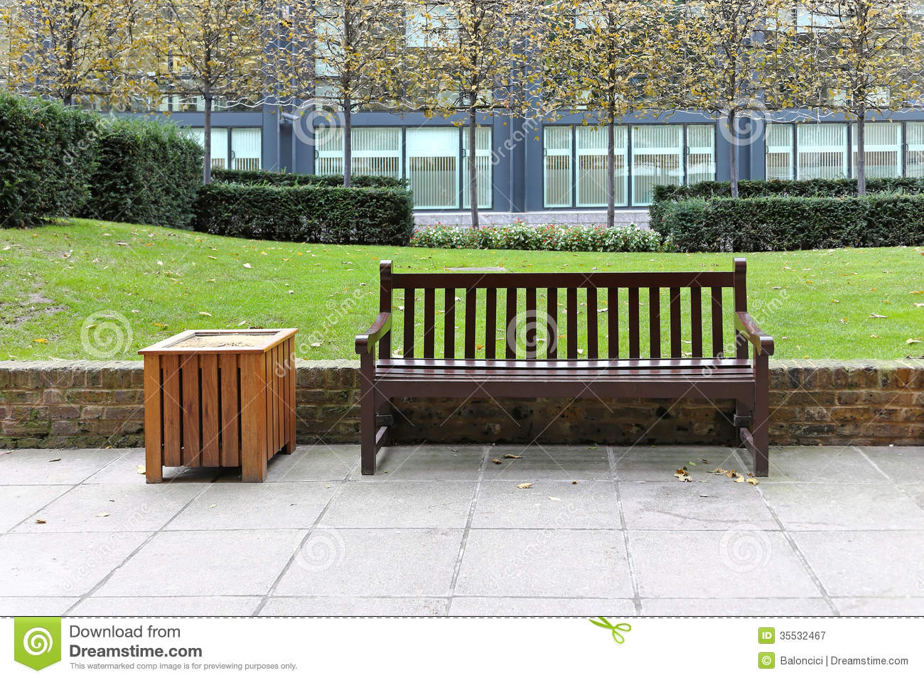 Bench in park stock image. Image of pavement, cultivated ...
