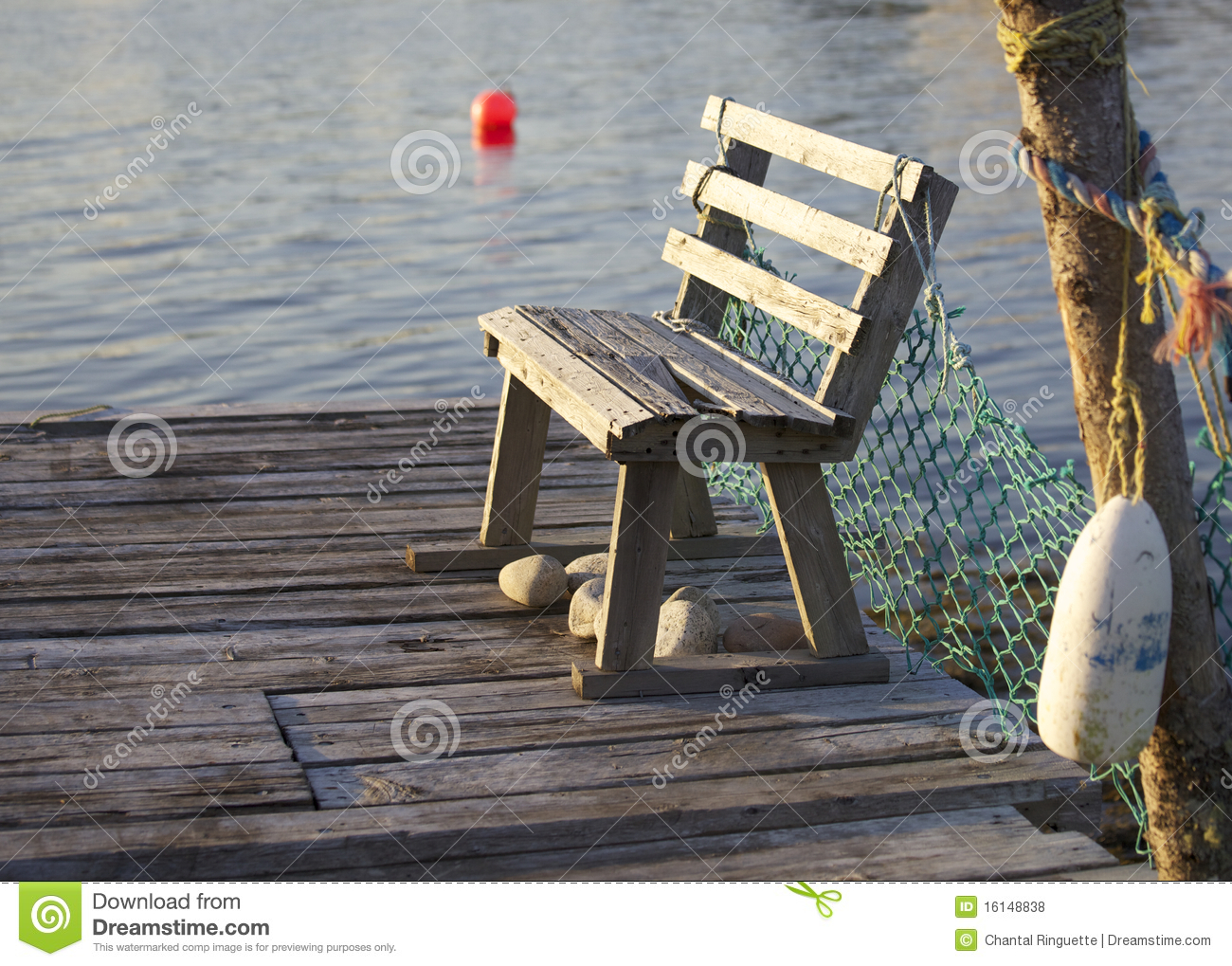 Bench On Pier Royalty Free Stock Photos Image 16148838