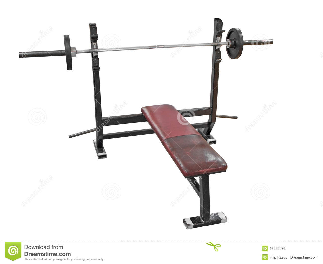 Bench Press Royalty Free Stock Image - Image: 13560286