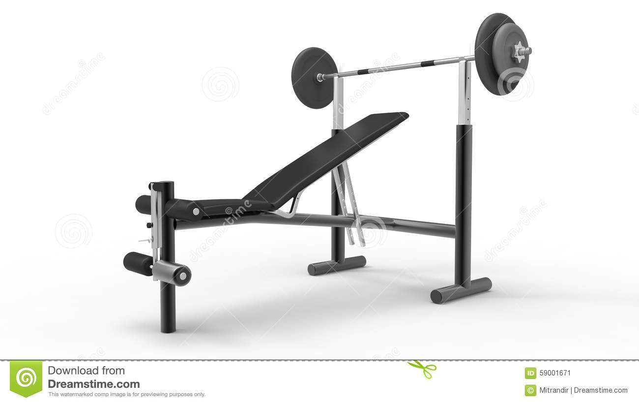 how to draw a bench press