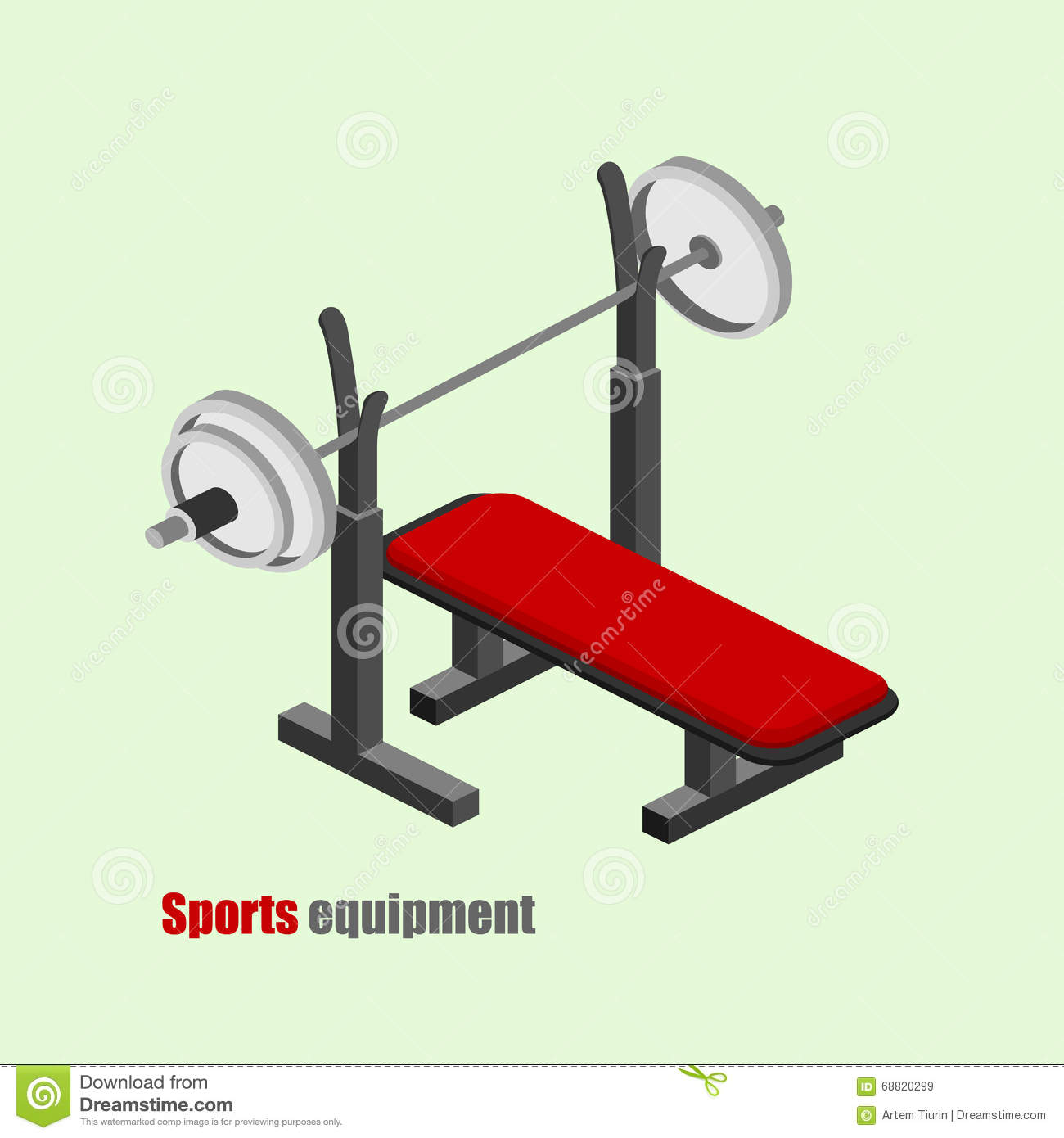 Isometric Exercises Equipment: Gym Equipment Isometric Vector Illustration Cartoon Vector