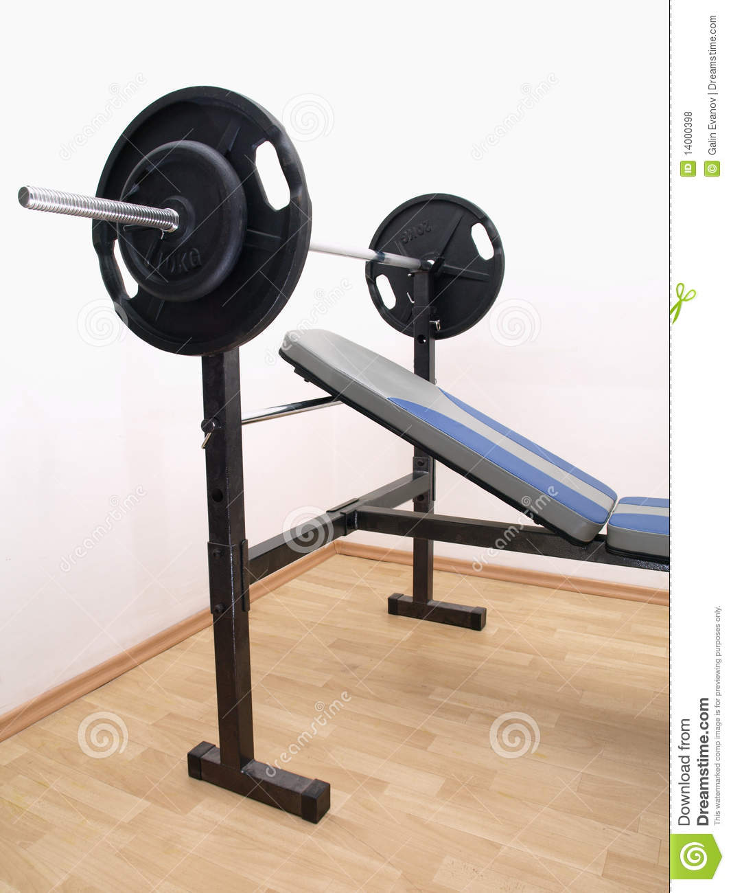 Bench Press With Weights Royalty Free Stock Photos Image 14000398