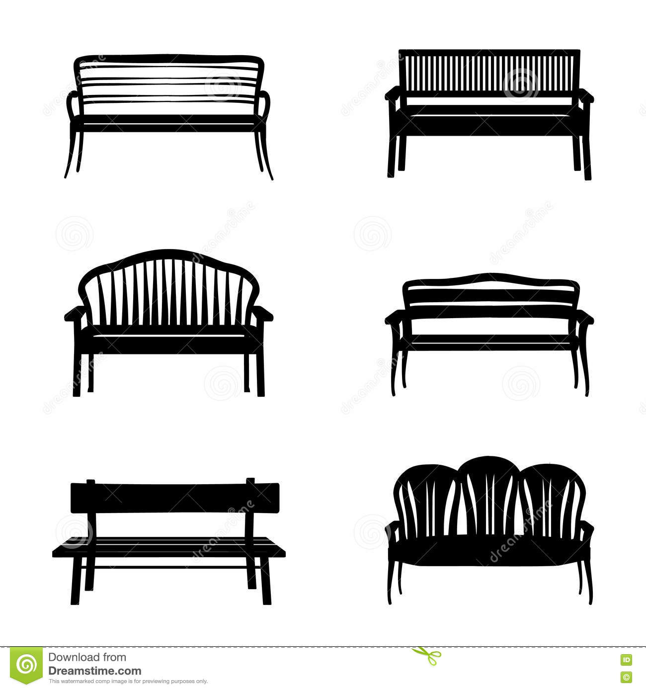 Park Wooden Bench Icon On White In Flat Style Cartoon Vector 78369999