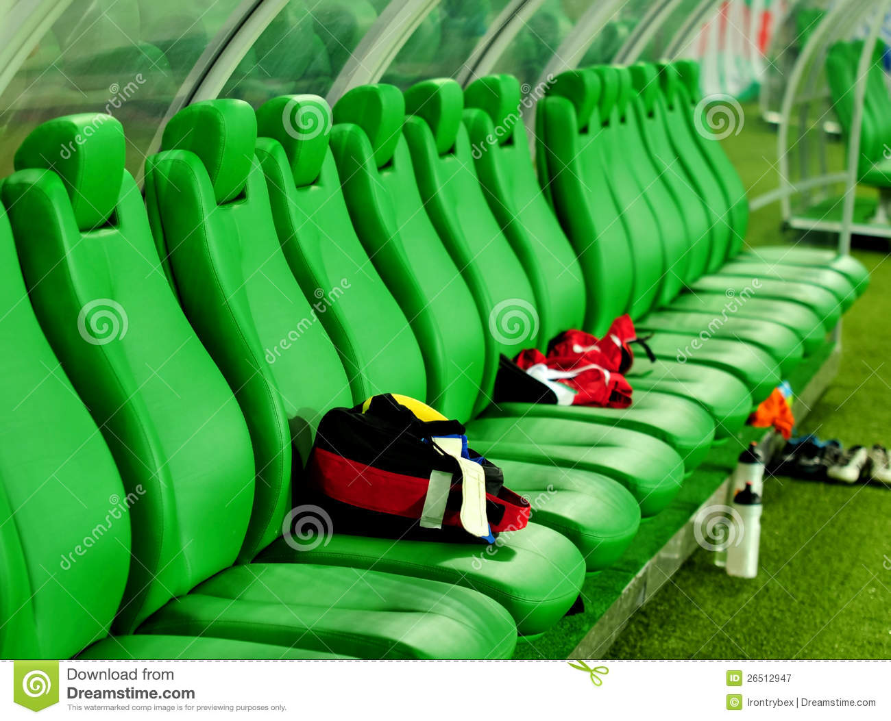 Bench Soccer Royalty Free Stock Photography Image 26512947