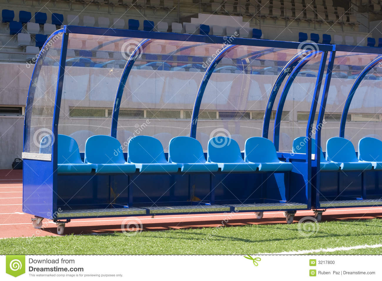 Bench Soccer Stock Photo Image 3217800