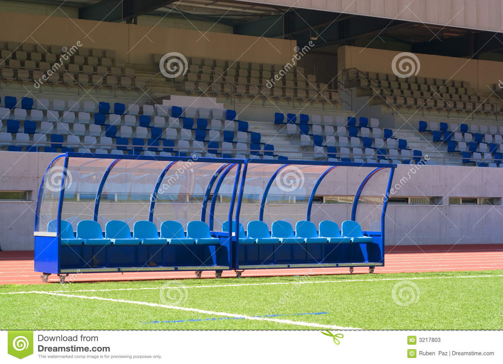 Bench Soccer Stock Photos Image 3217803