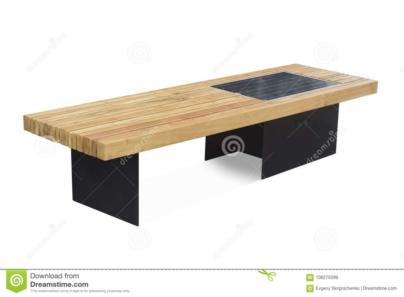Bench With Solar Battery Stock Image Of Concept 106270399 Charging