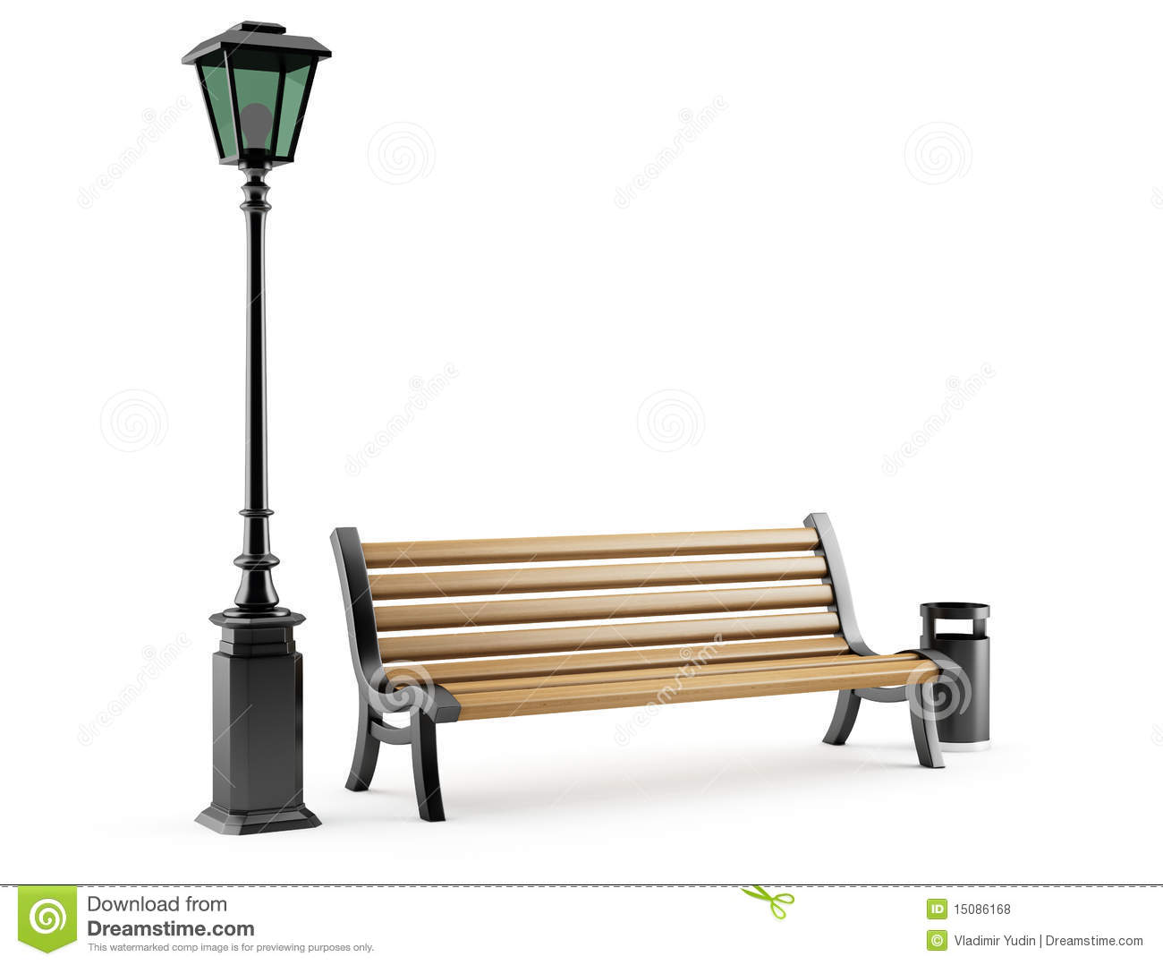 Bench And Street Lamp Royalty Free Stock Photos Image