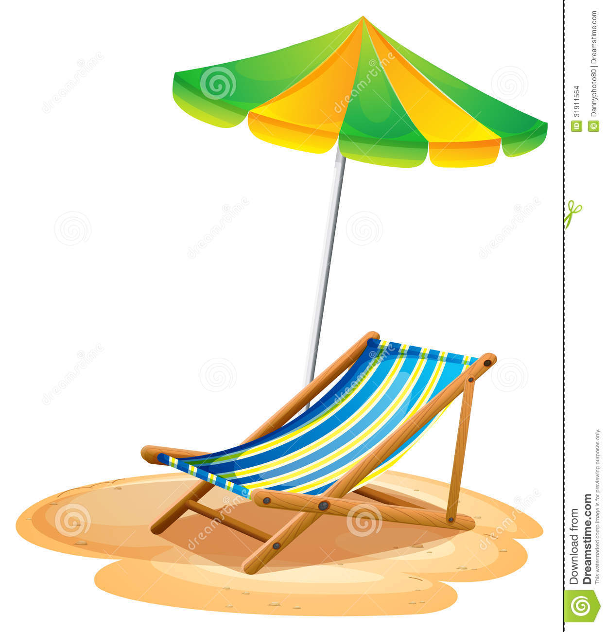 Beach chair and parasol vector illustration stock vector image - A Bench With A Summer Umbrella Stock Images Image 31911564
