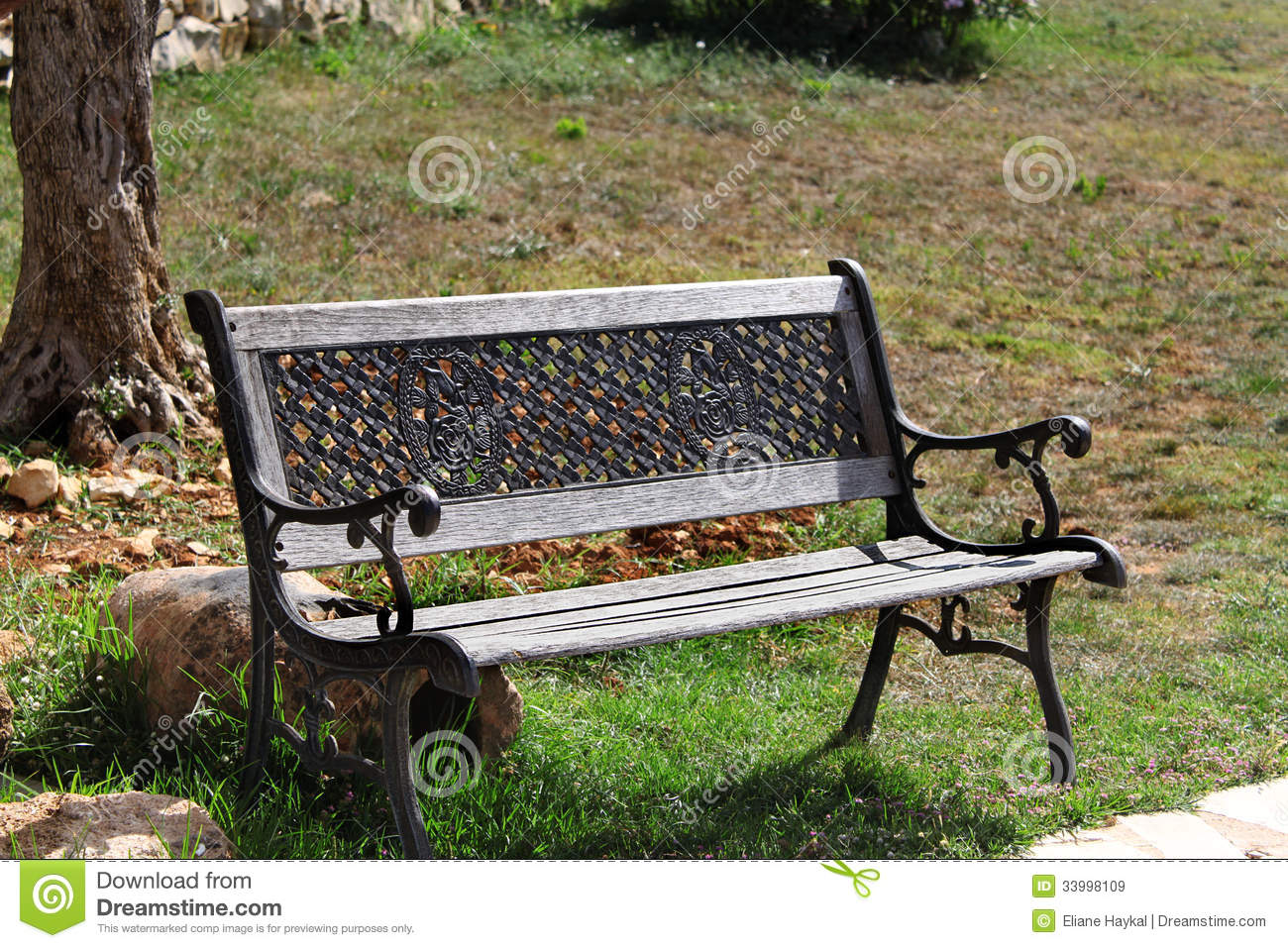 Bench In The Sun Royalty Free Stock Images - Image: 33998109