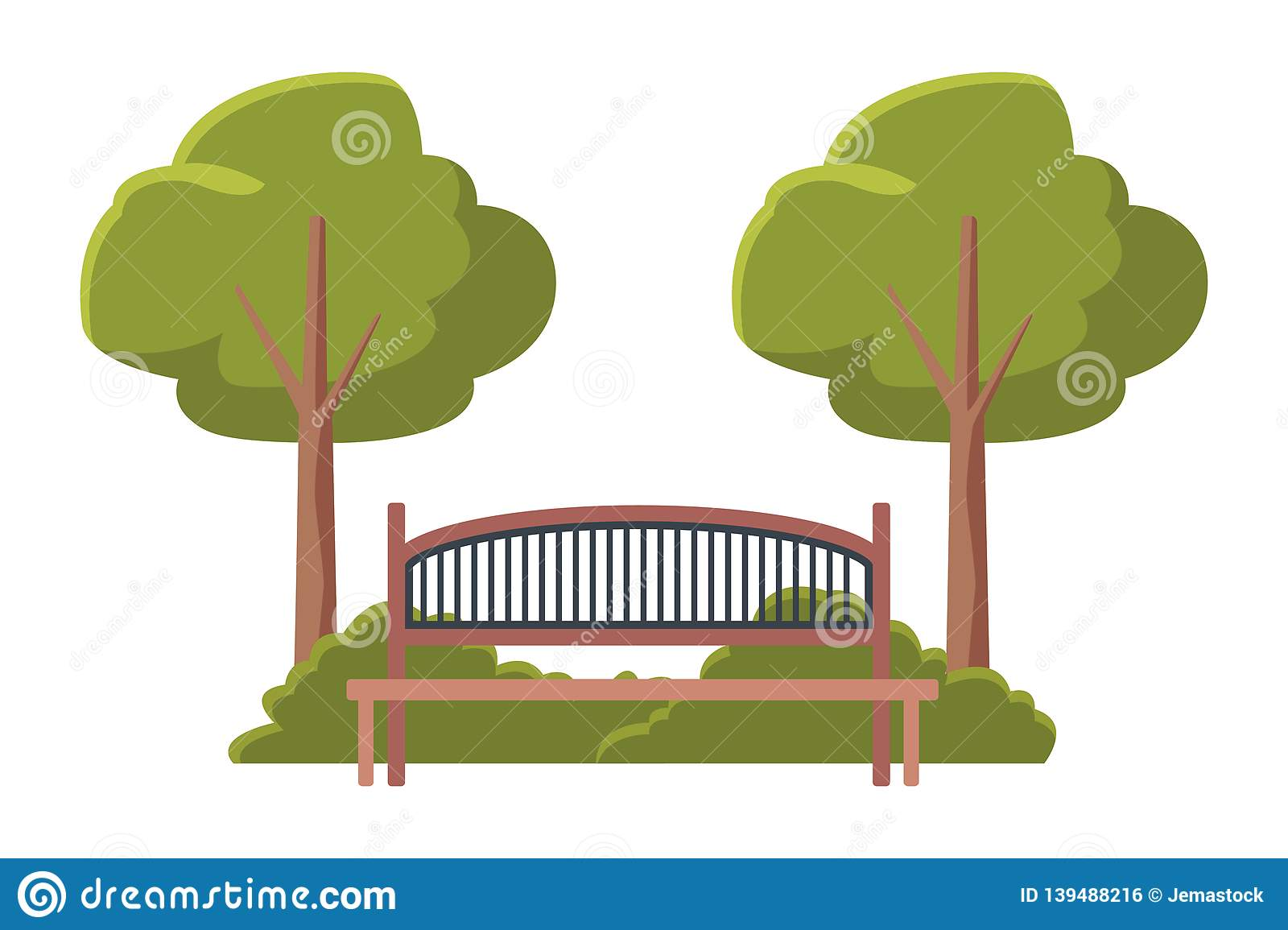 Fabulous Bench Wooden Furniture Stock Vector Illustration Of Concept Machost Co Dining Chair Design Ideas Machostcouk