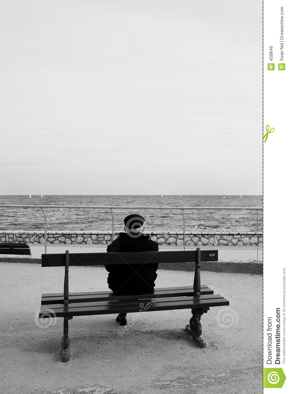 Download Benchman #04 stock photo. Image of france, coast, europe - 459846