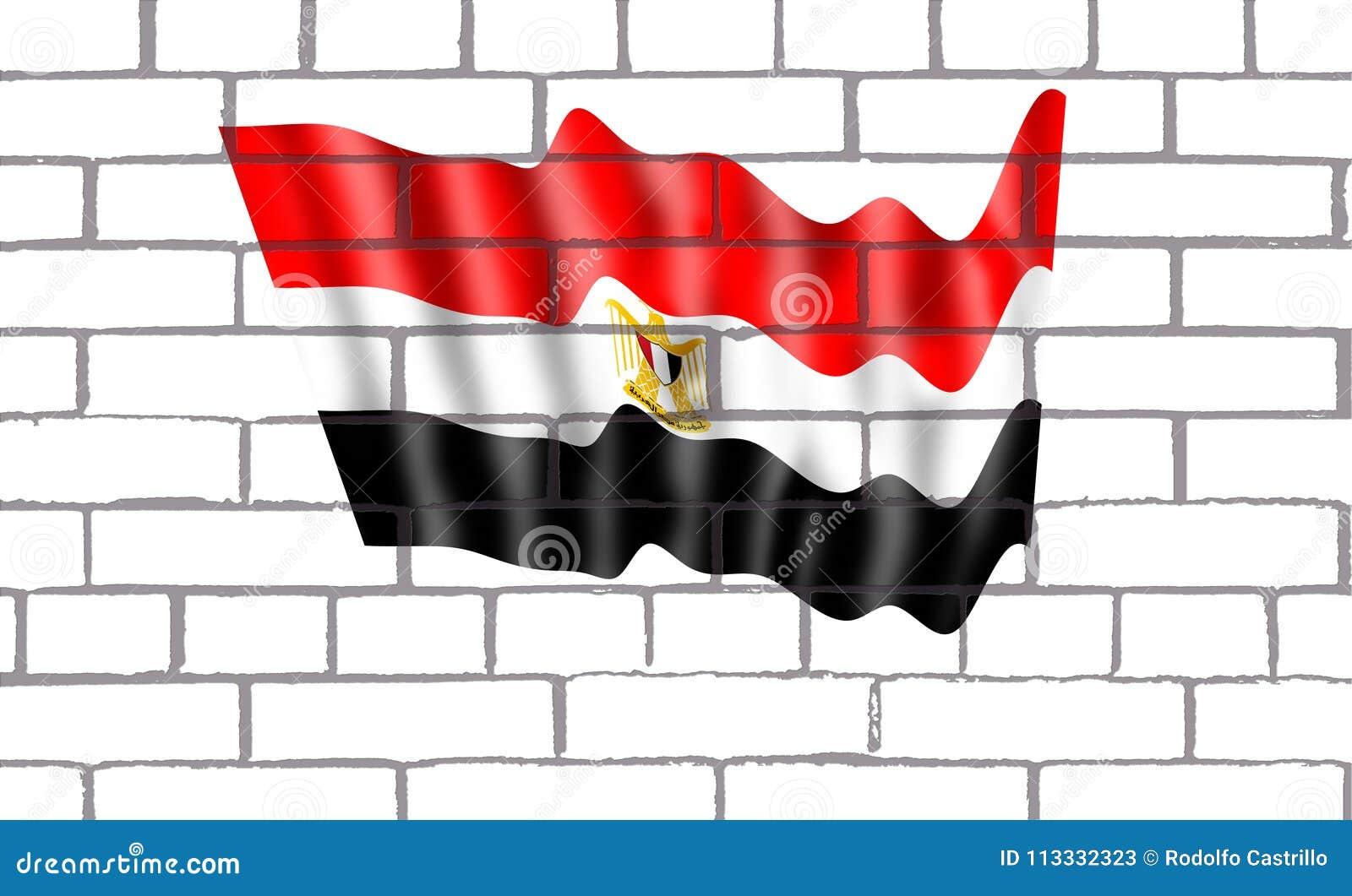 Bendera Egipto de labrillos sbucciato en