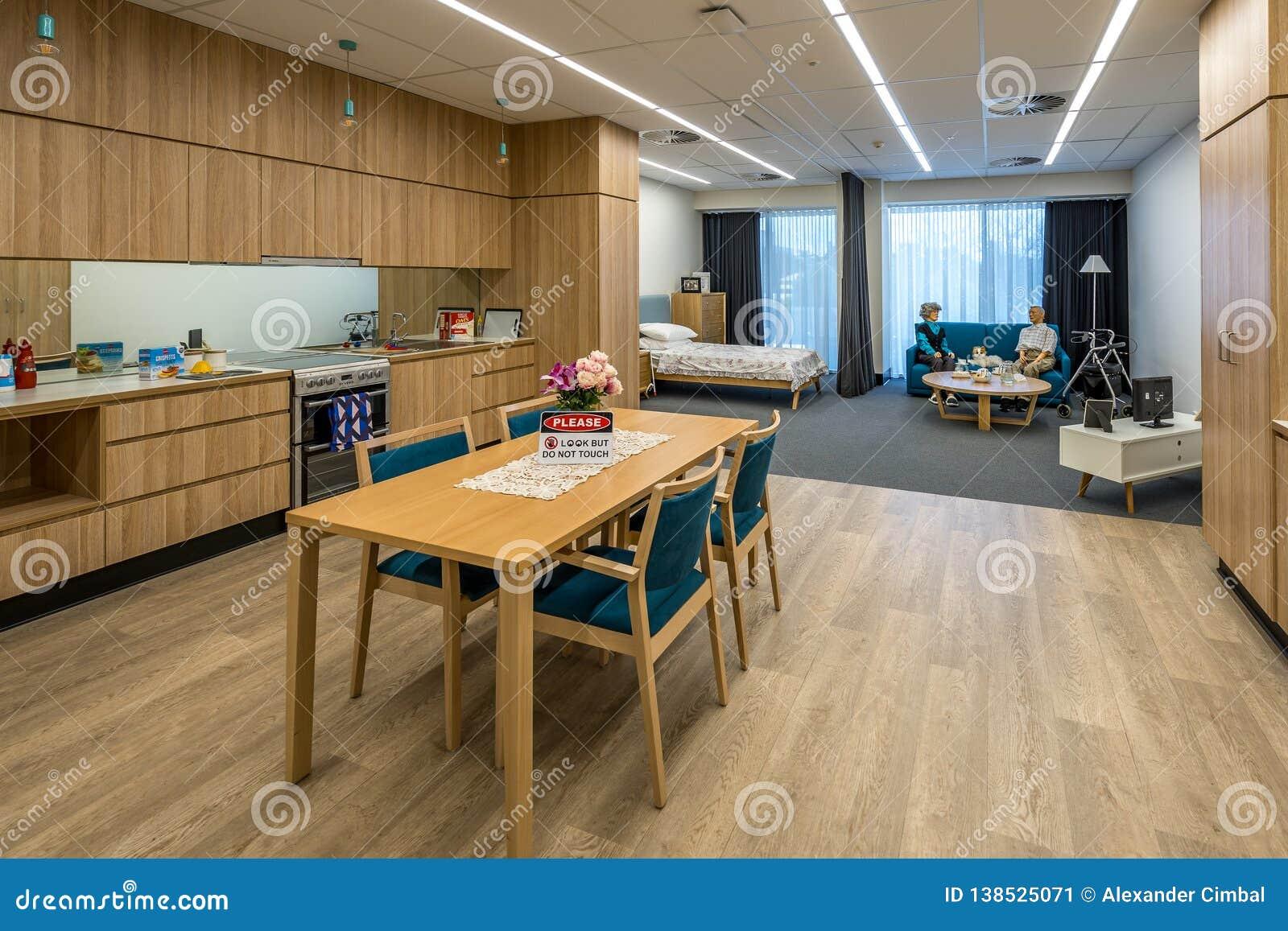 Bendigo, Victoria, Australien - Pflegehaussimulation für Studenten Bendigo TAFE
