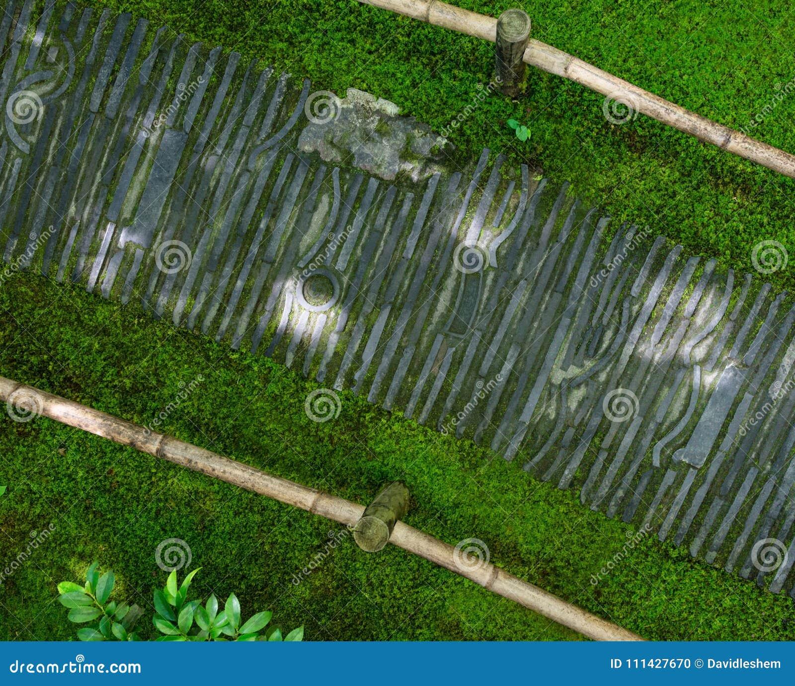 Bending stone path Japanese Garden & Bending Stone Path Japanese Garden Stock Photo - Image of ...