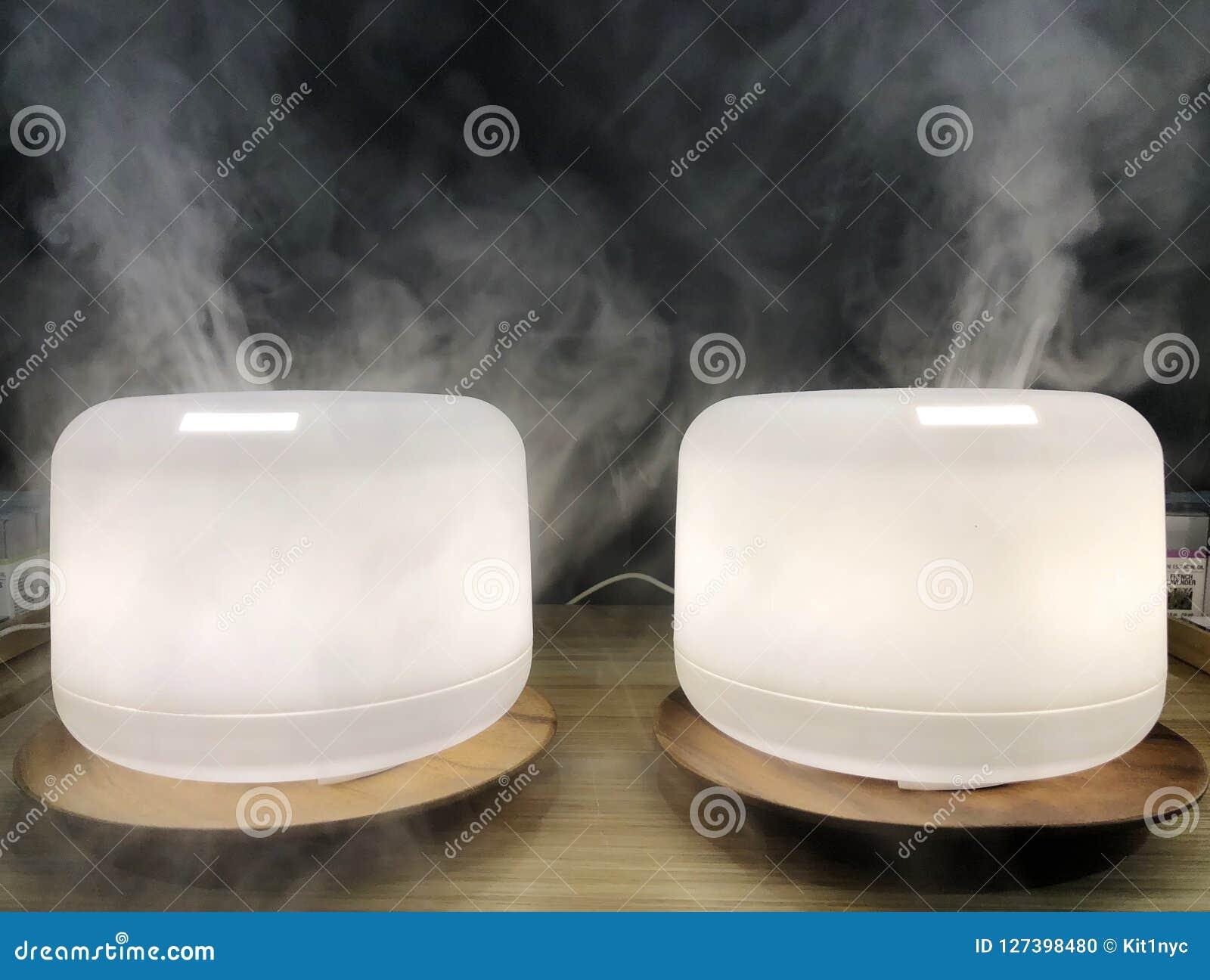 Benefícios de saúde frescos do purificador do ar da casa do atomizador da névoa do humidificador branco