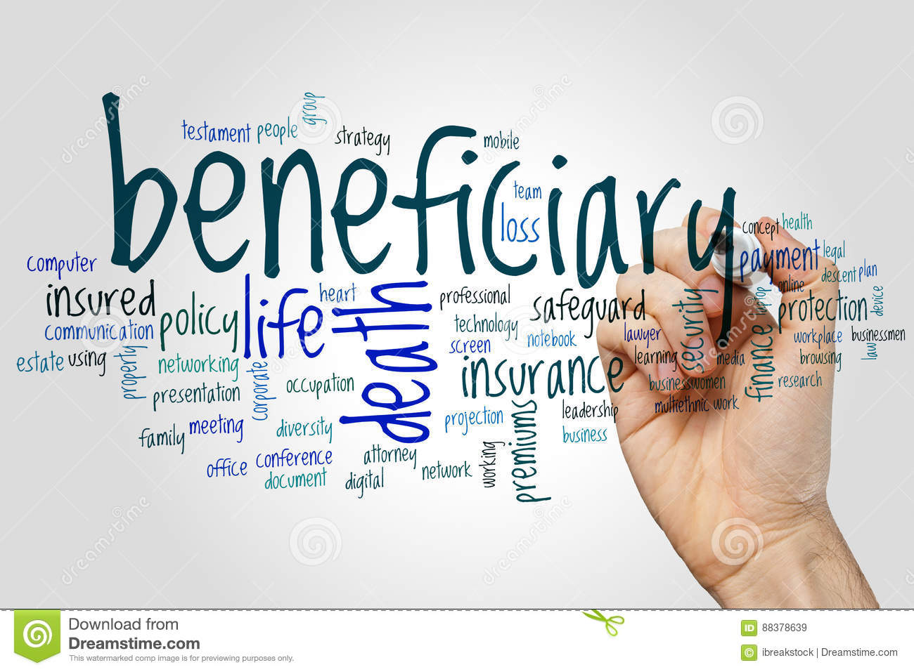 The beneficiary is who what the word means and where it came from 32
