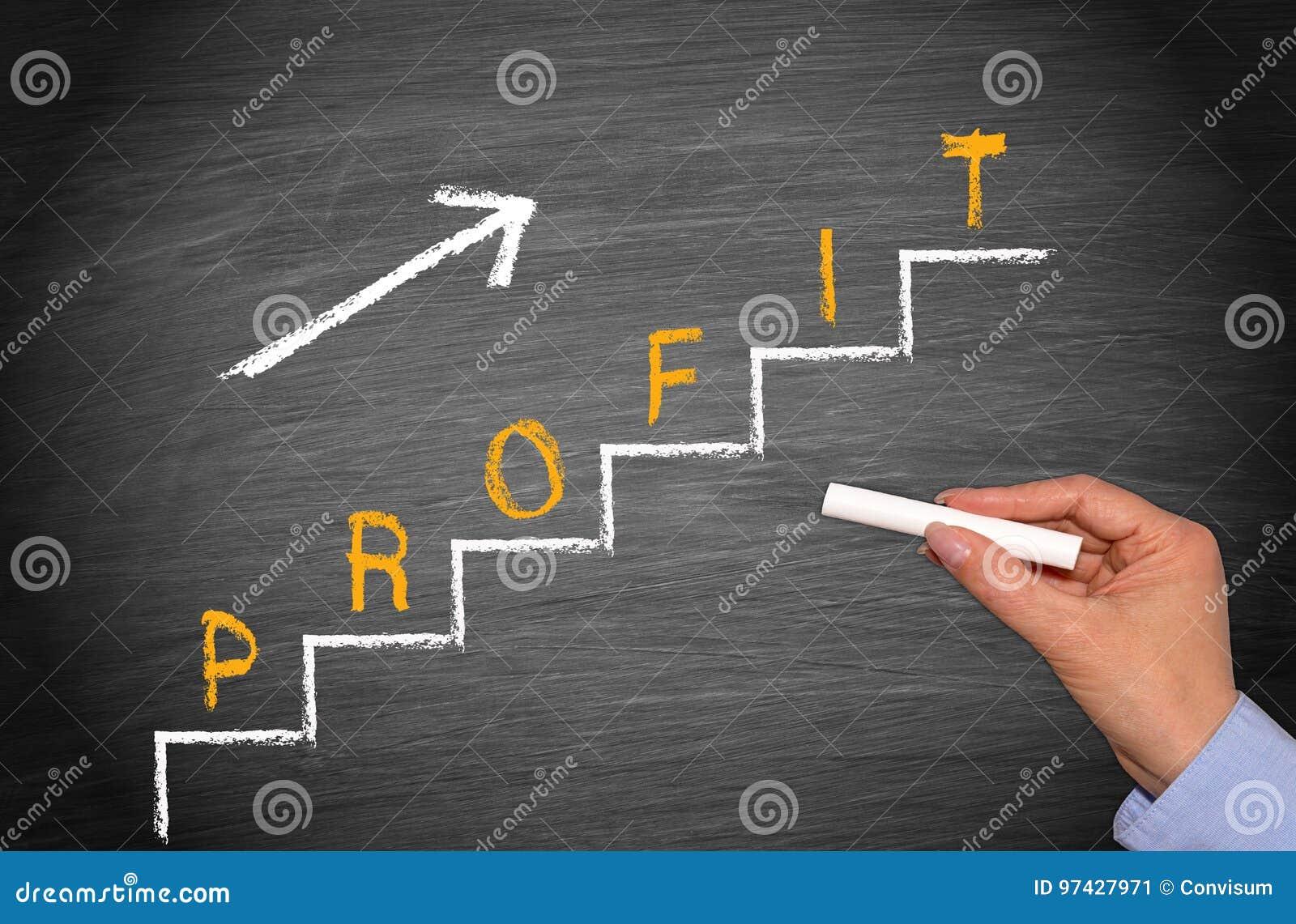 Beneficio - concepto del negocio y de las finanzas