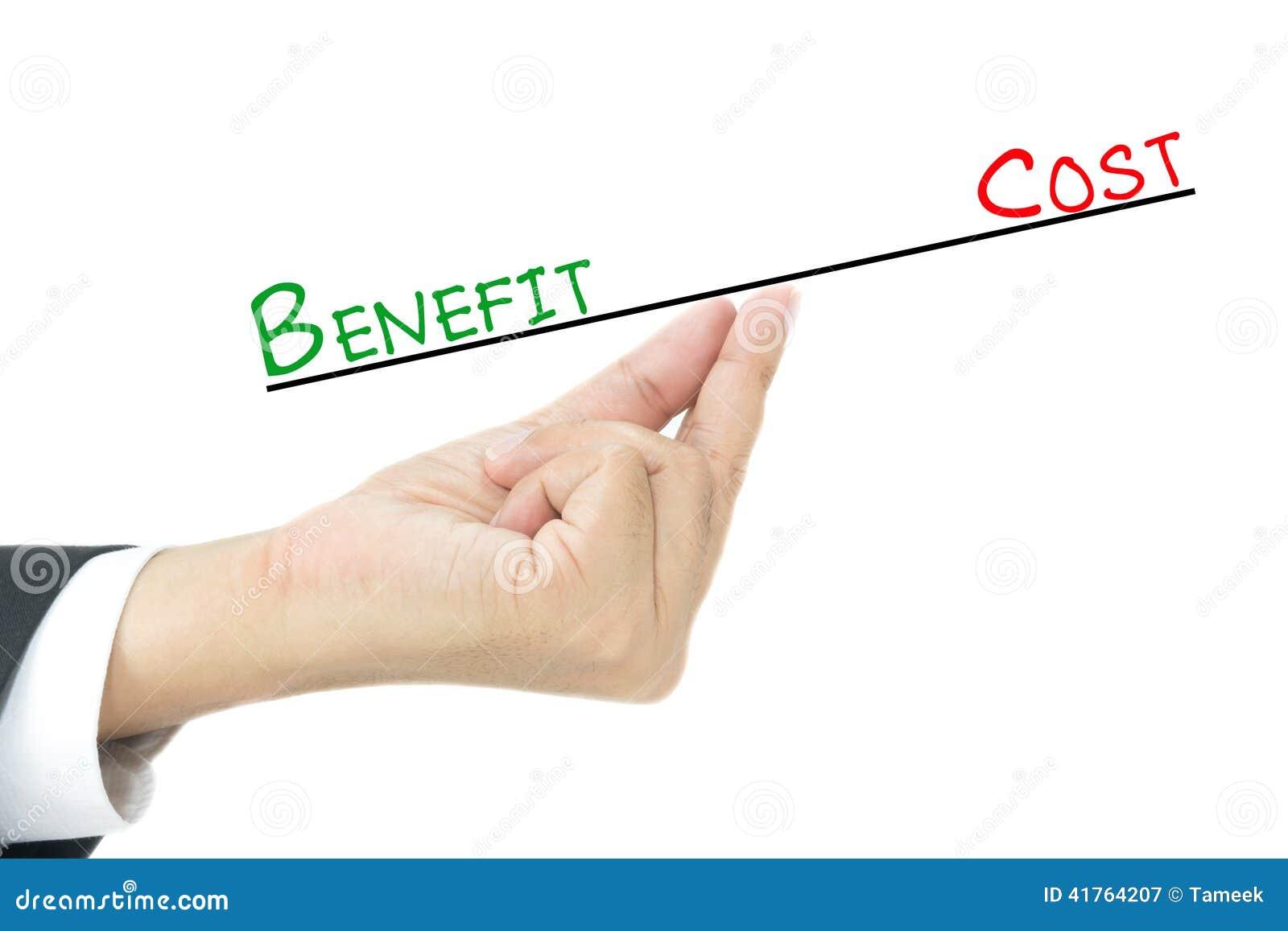 Beneficio contro il confronto dei costi