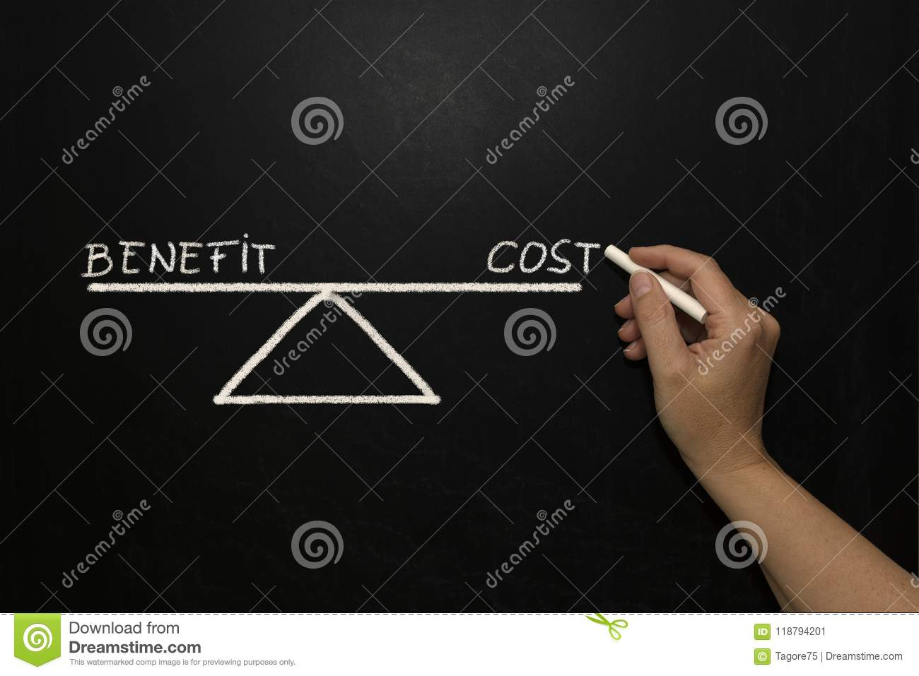 Benefit And Cost Stock Image Image Of Illustration 118794201