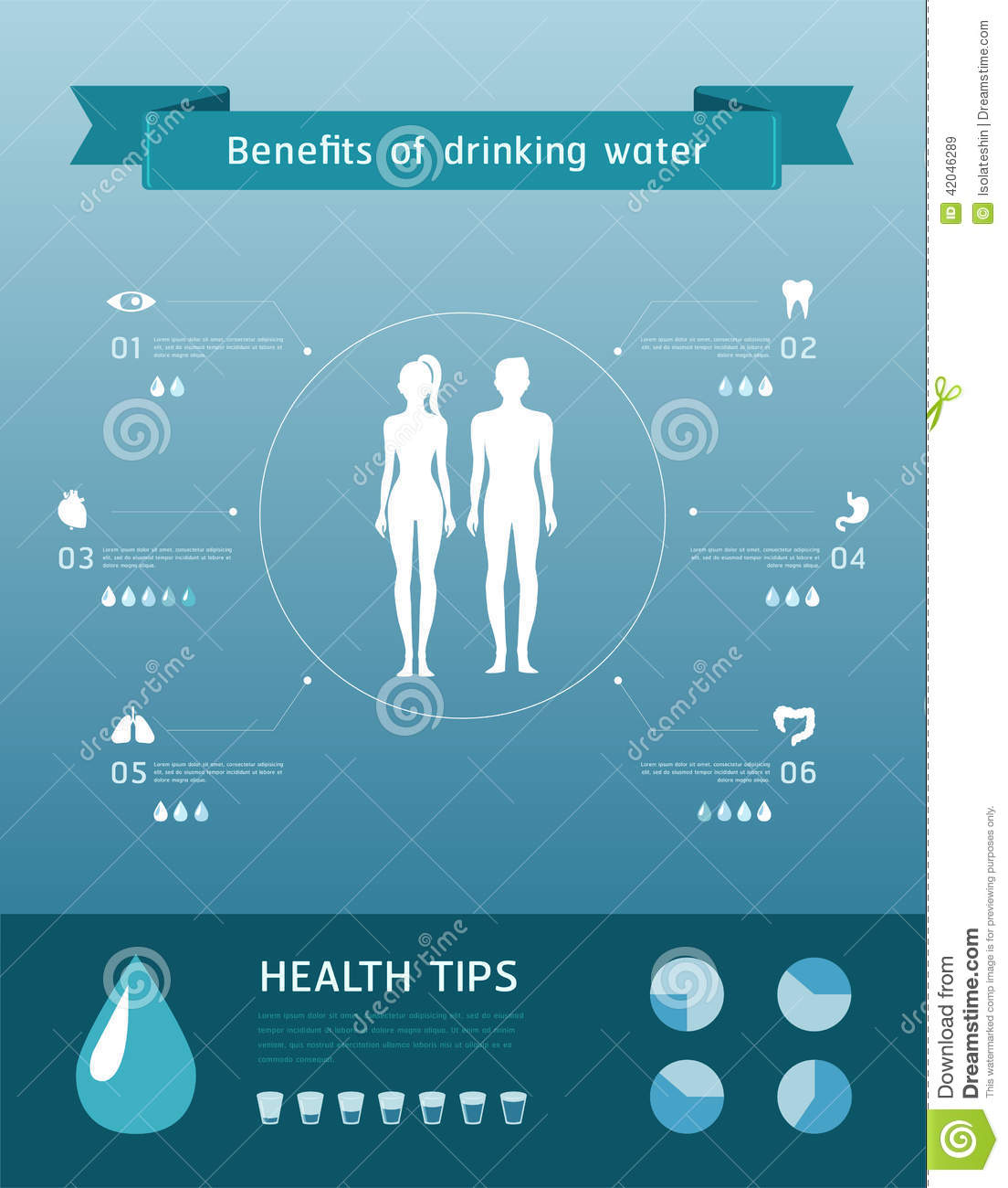 benefits of drinking water stock vector illustration of abstract