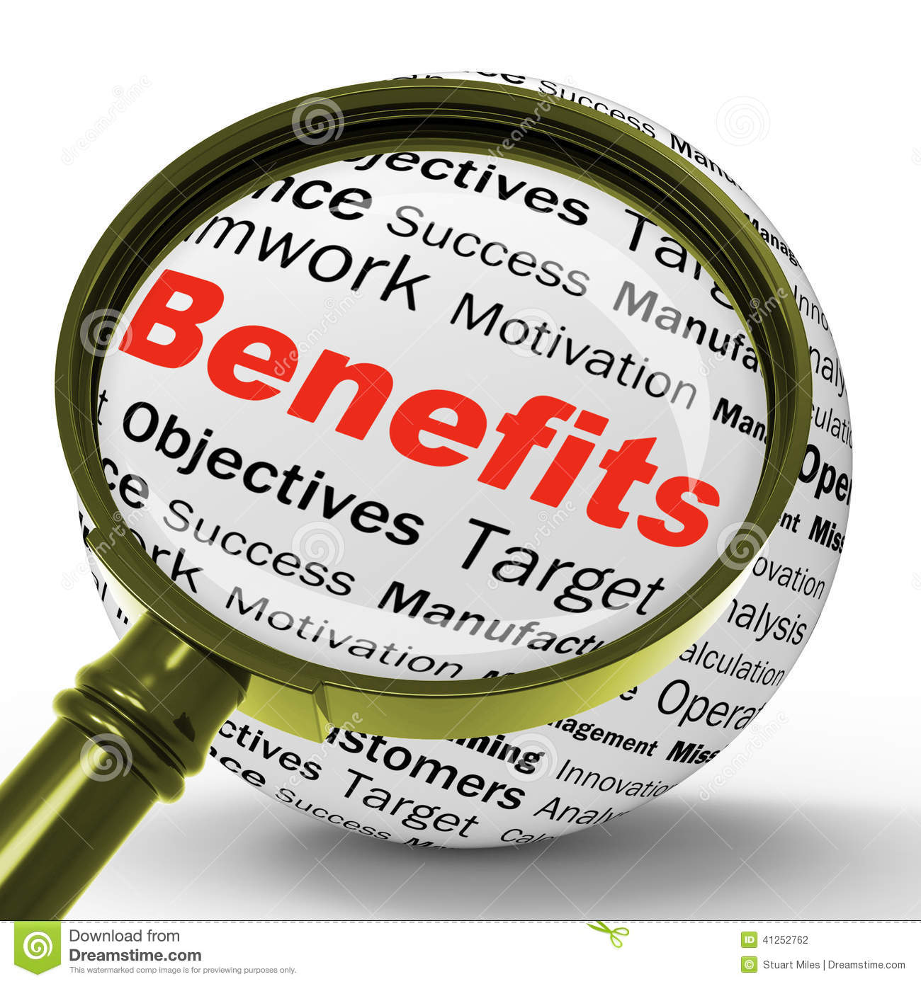 Benefits Magnifier Definition Means Advantages Or Monetary