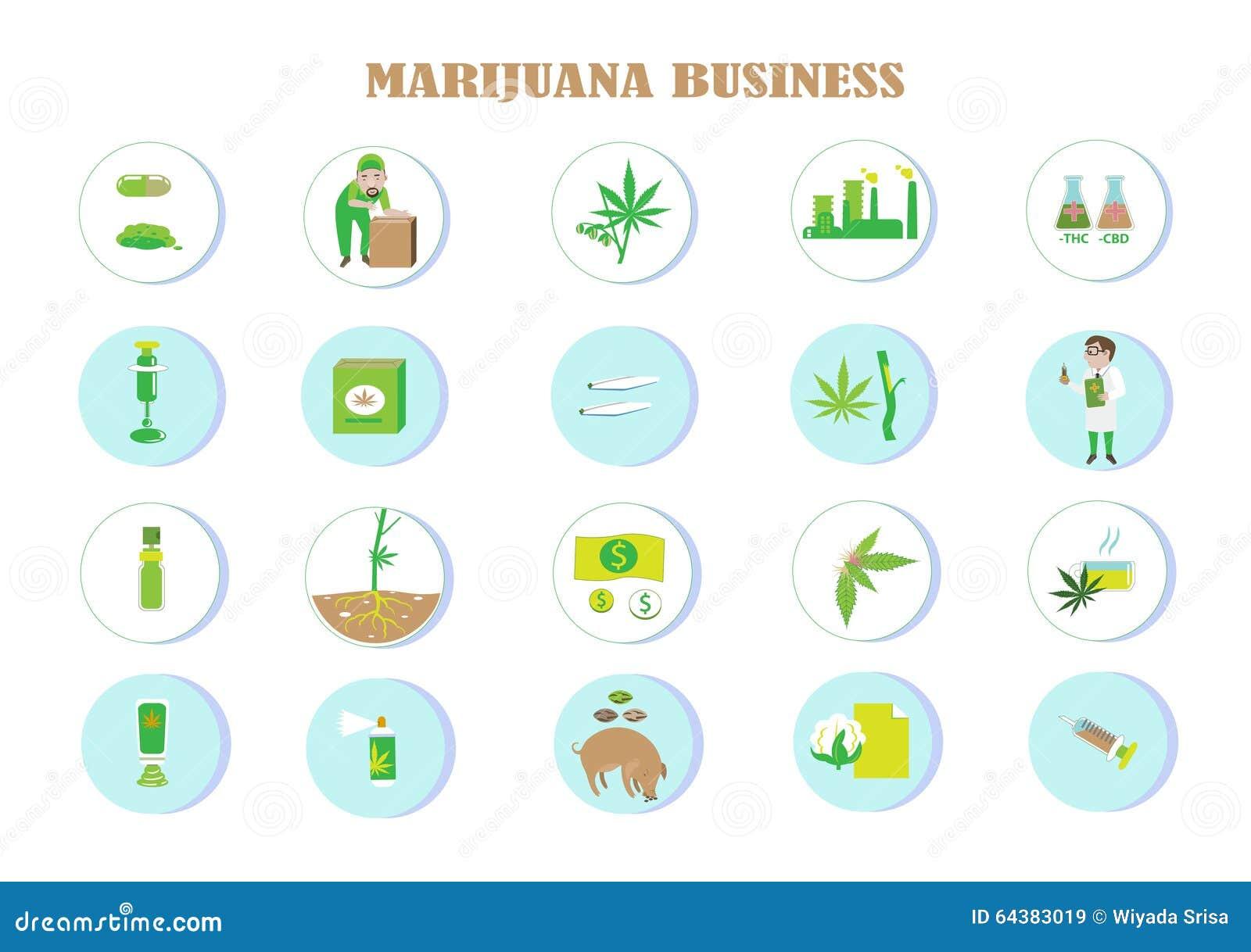 benefits of marijuana stock vector illustration of herb 64383019