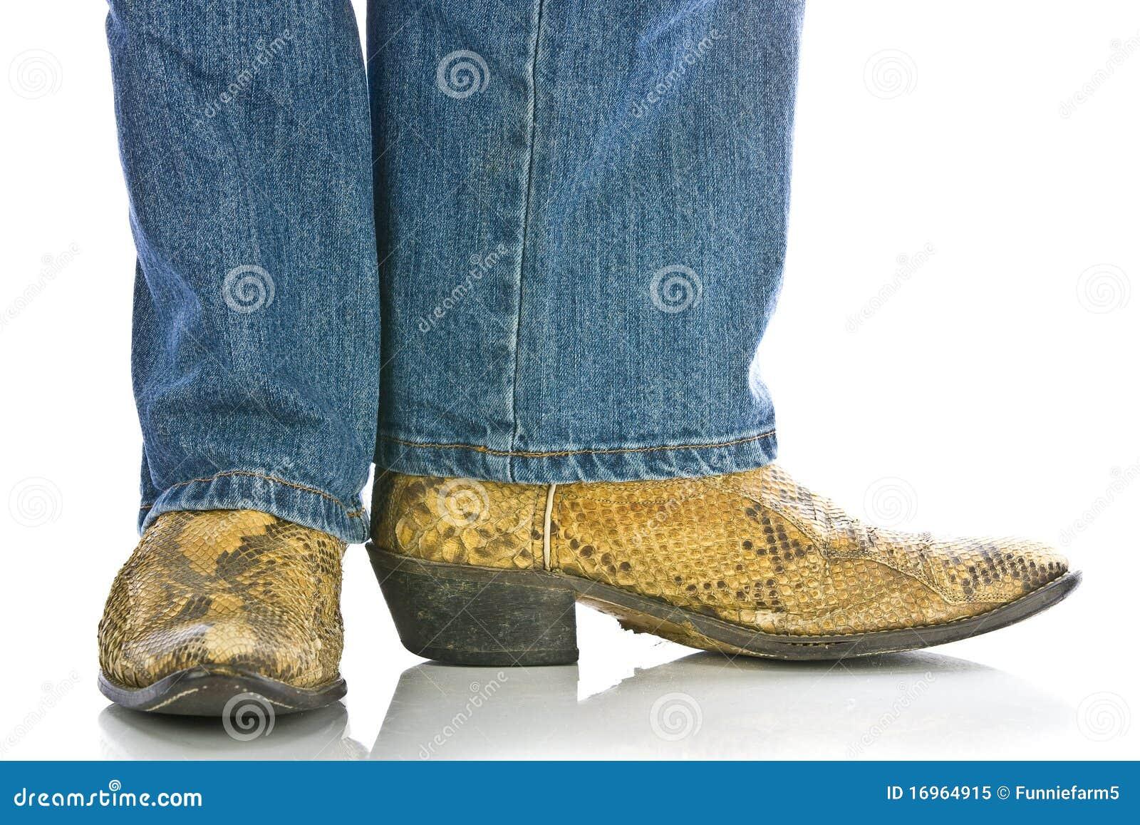 Stock Jeans Benen In De Laarzen En Afbeelding Snakeskin Cowboys Van rxdCBWeo