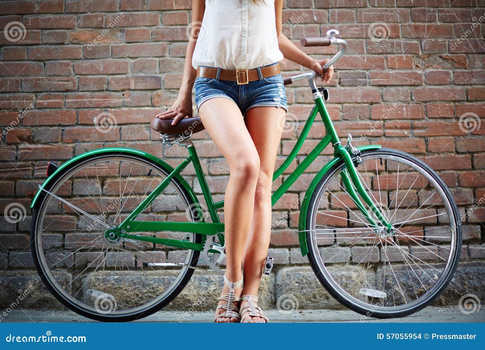 Benen van fietser