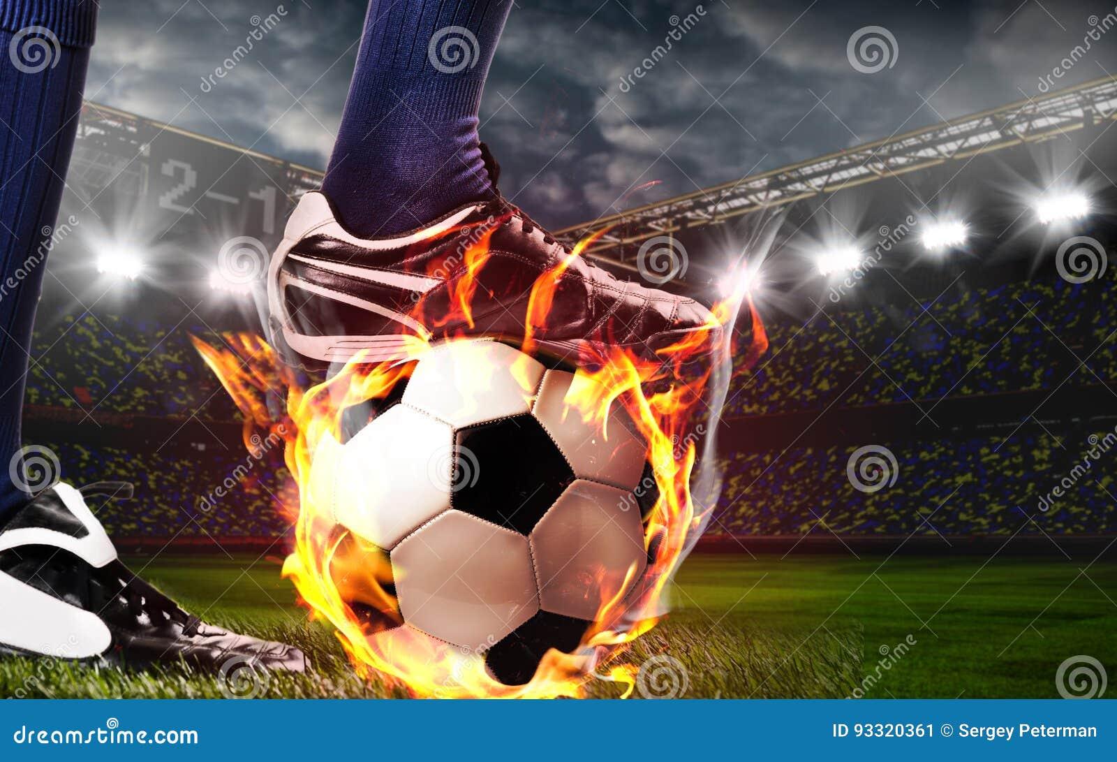 Benen van voetbal of voetbalster