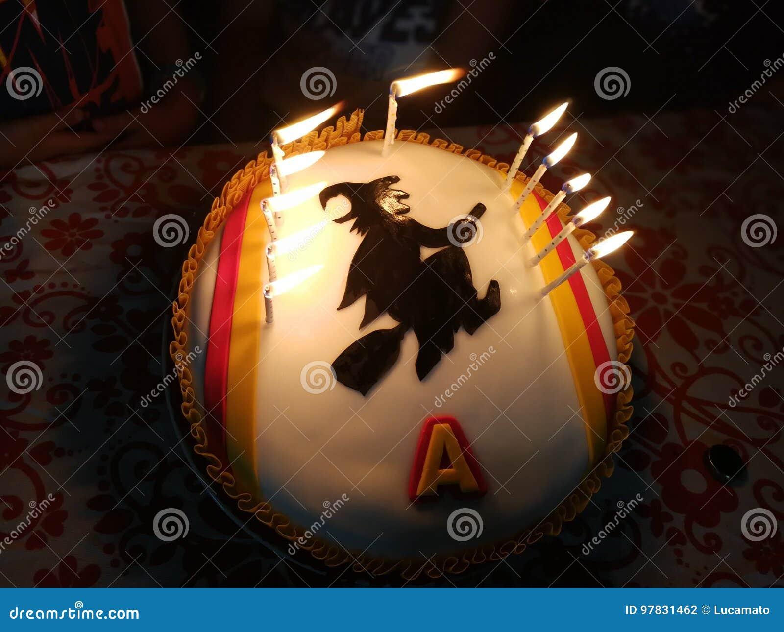 Haunted Cake Stock Photo Image Of Birthday Football