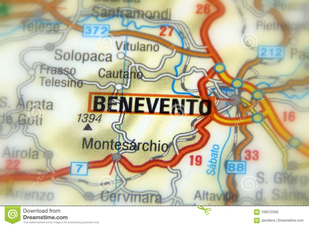 Benevento, Italy - Europe stock photo. Image of destination - 109572506