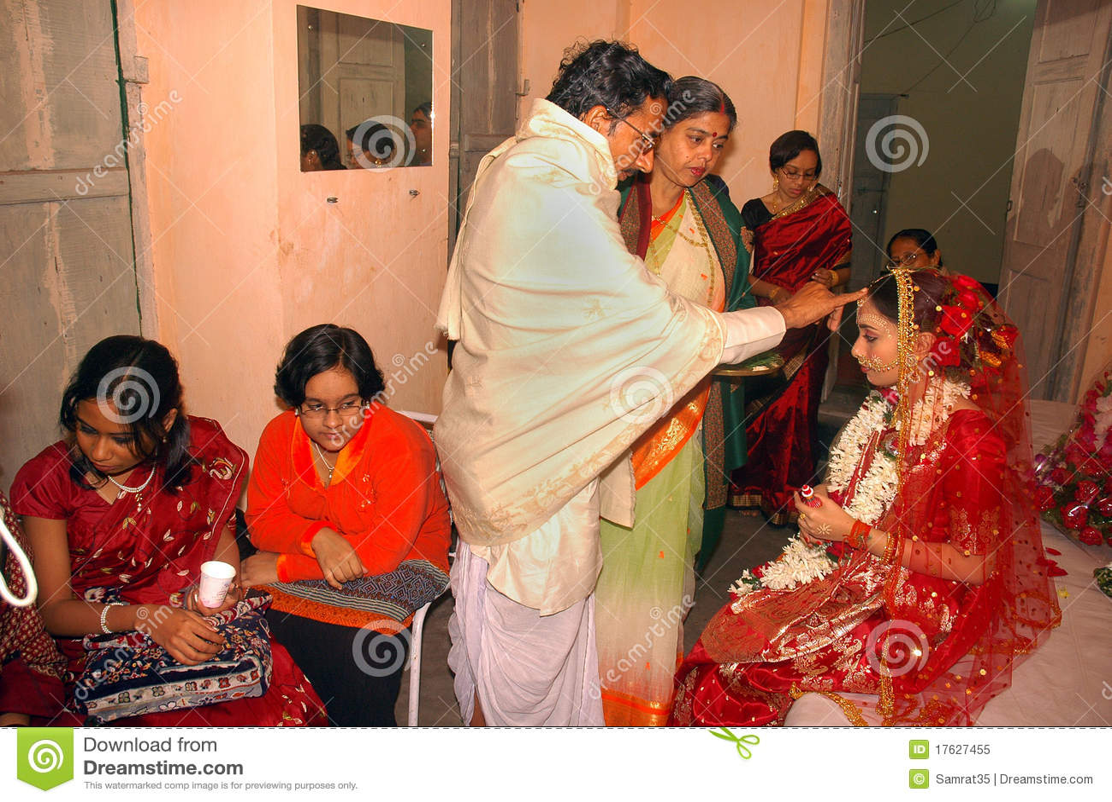 bengali wedding rituals in india editorial image