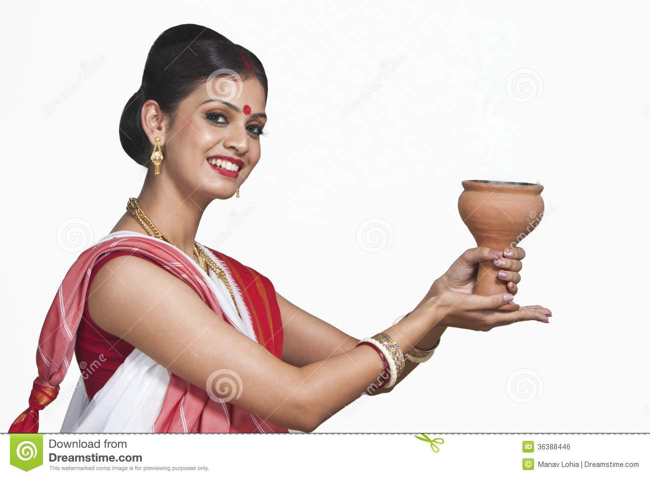 Bengali woman praying stock photo  Image of culture, adult - 36388446
