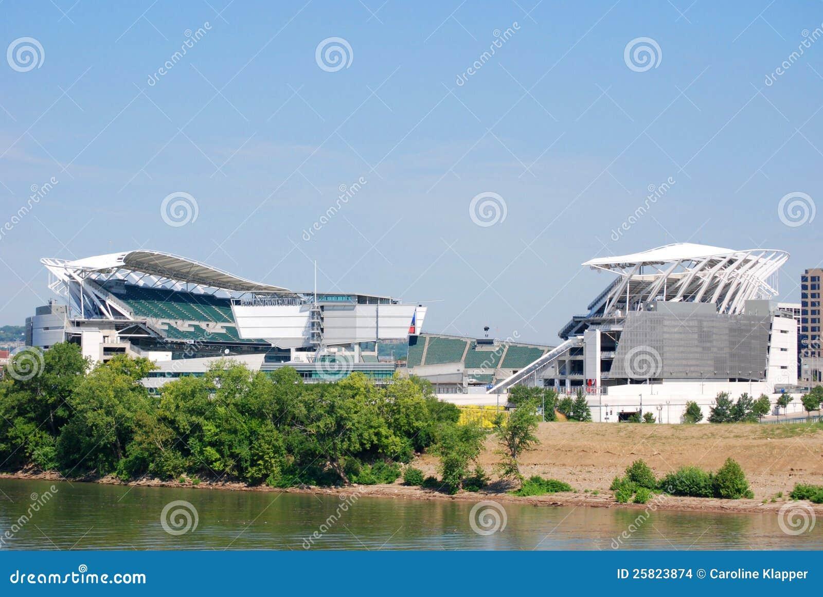 bengals football stadium editorial stock image