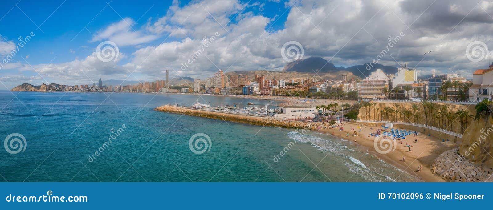 Benidorm,西班牙全景