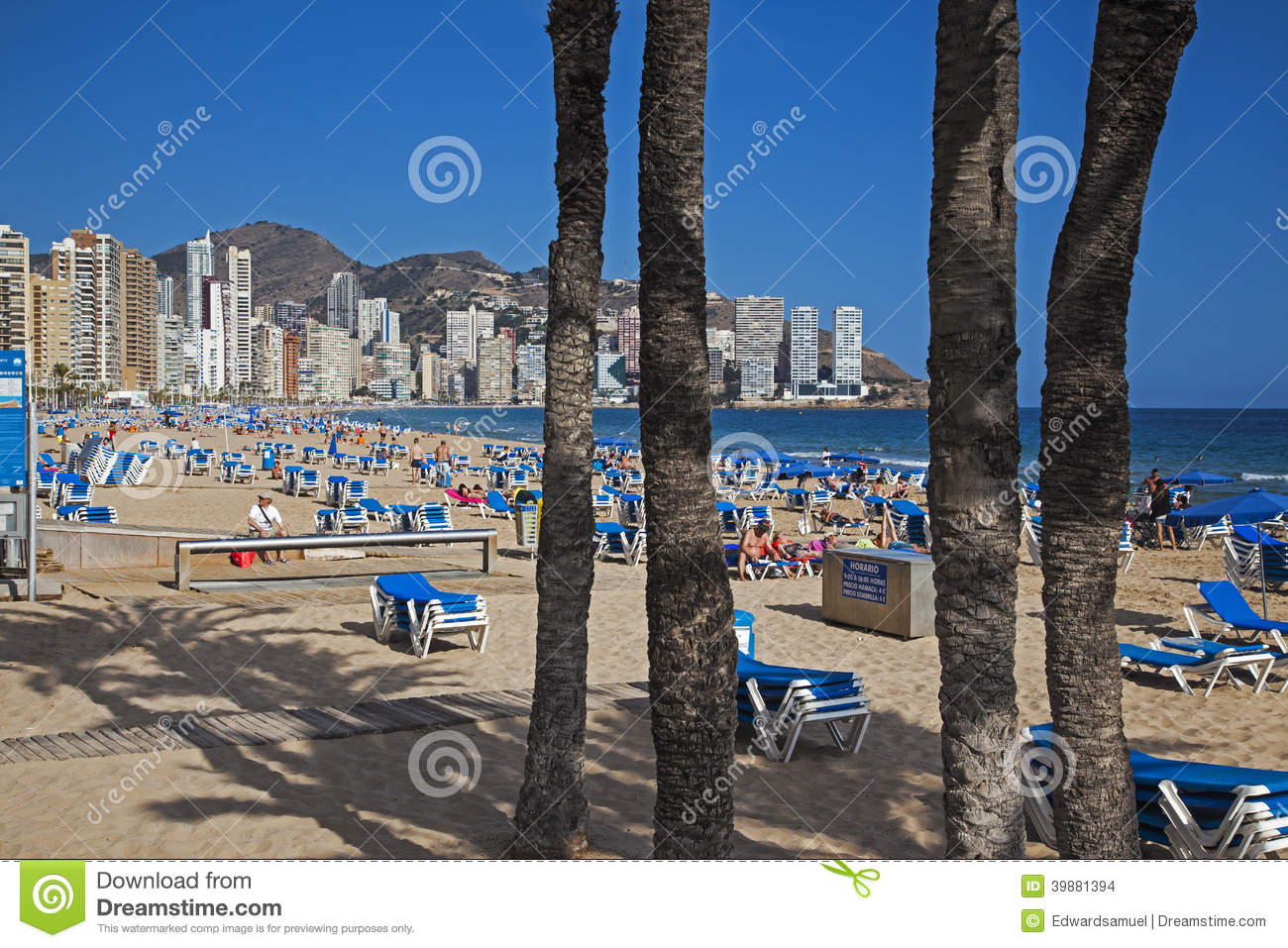 Benidorm - Costa Blanca Spain  City new picture : Benidorm, Costa Blanca, Spain APRIL 2014: Playa de Levante, Benidorm ...