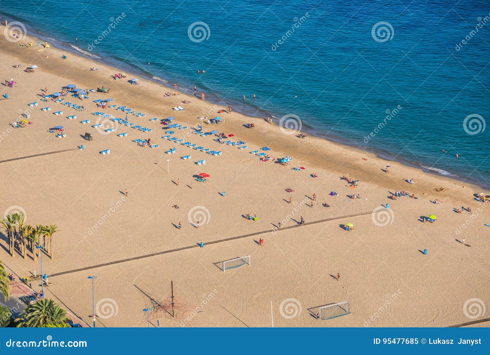Benidorm Levante plaża w Alicante Hiszpania