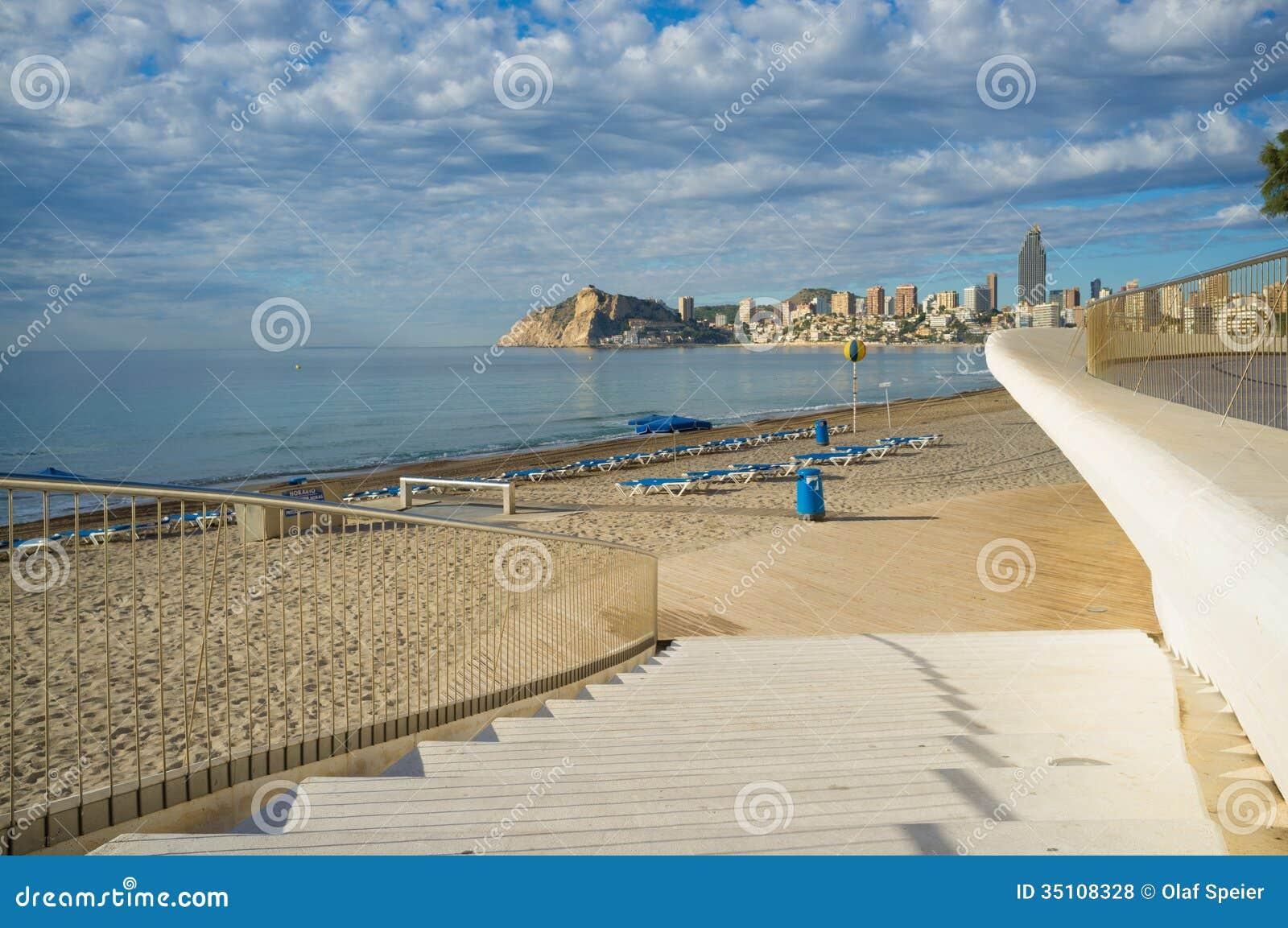 Benidorm Poniente Beach Royalty Free Stock Photos - Image: 35108328