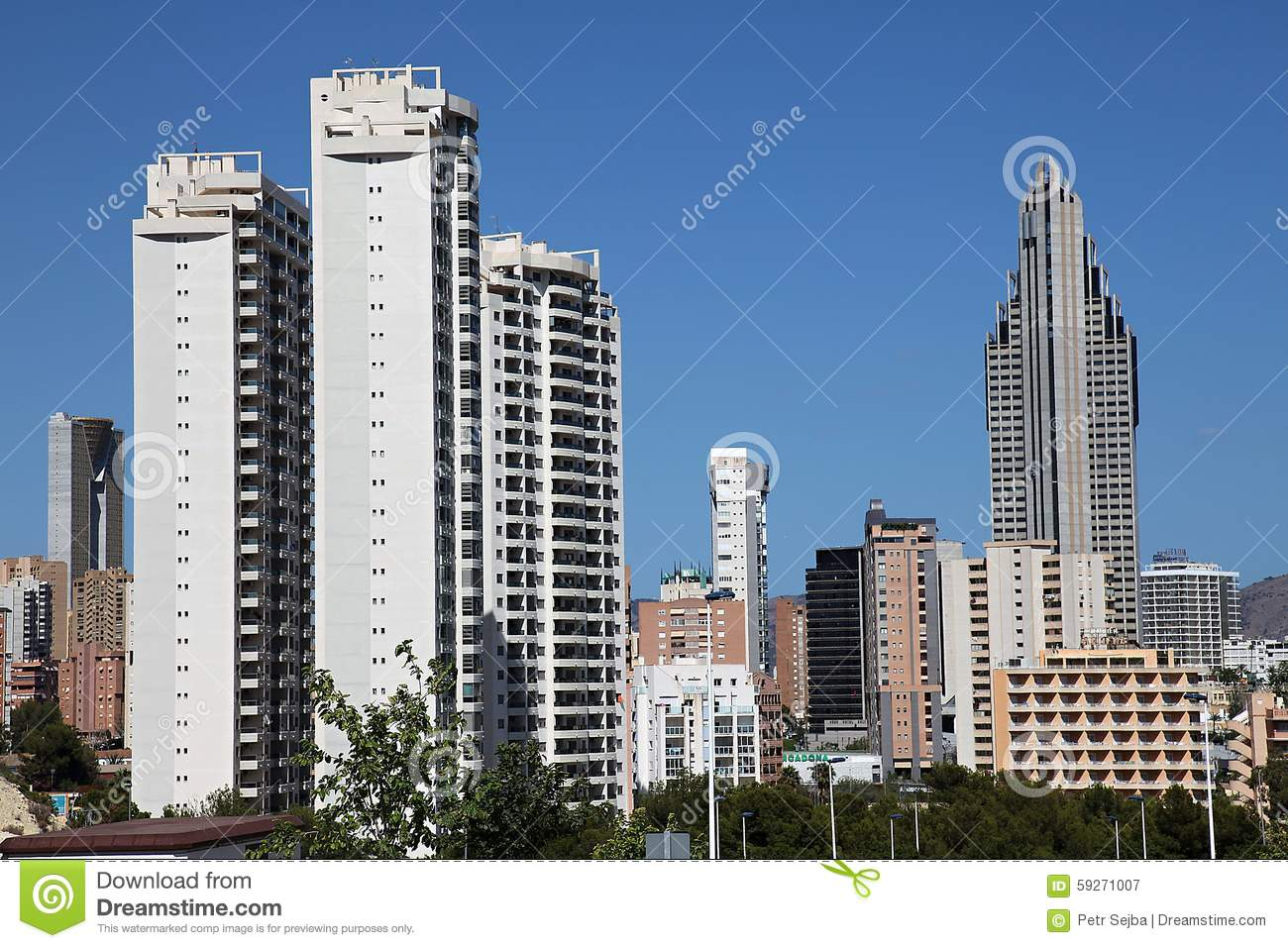 Download Benidorm skyscrapers stock image. Image of high, architecture - 59271007