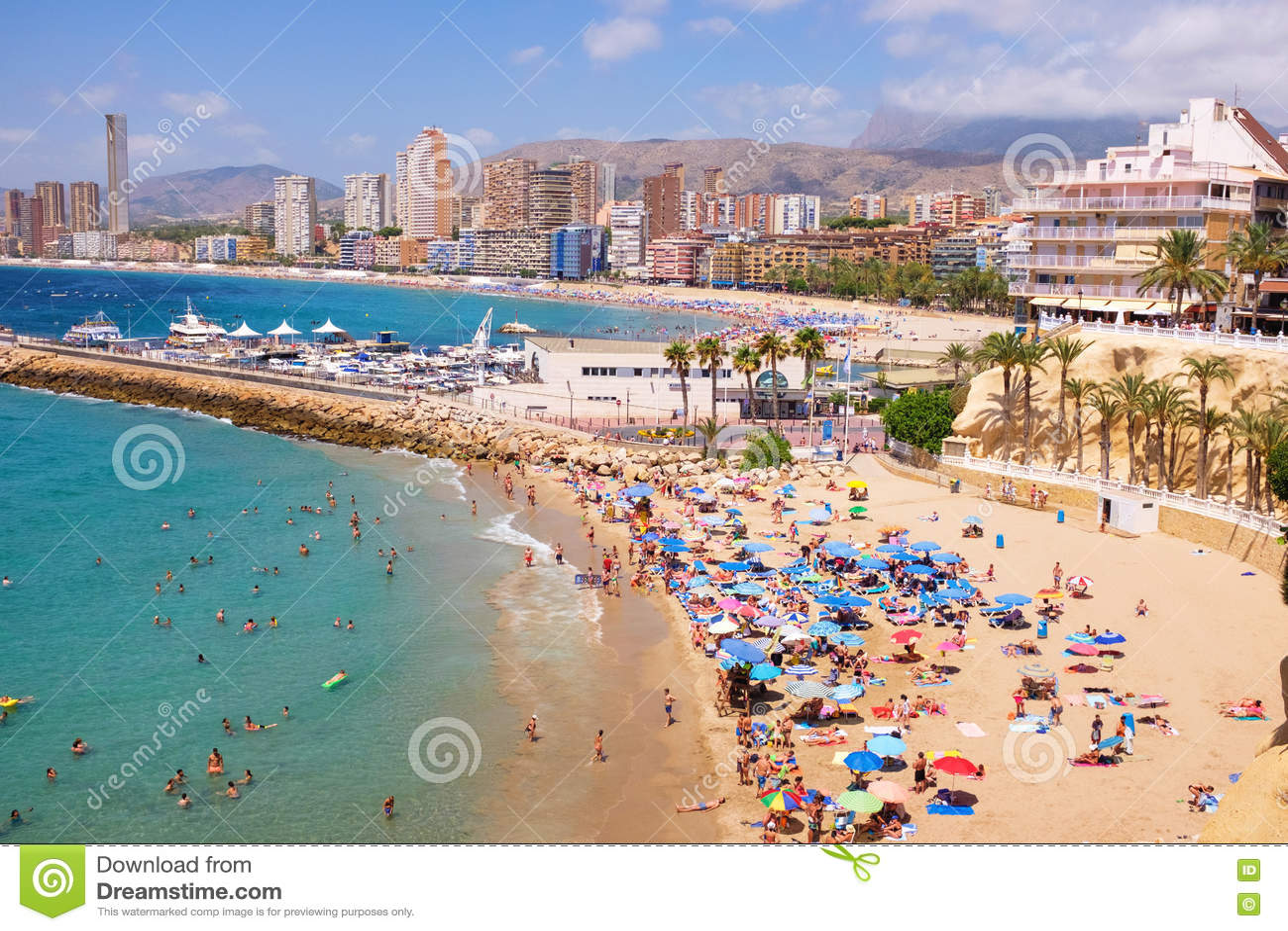Hotels On Levante Beach Front Benidorm