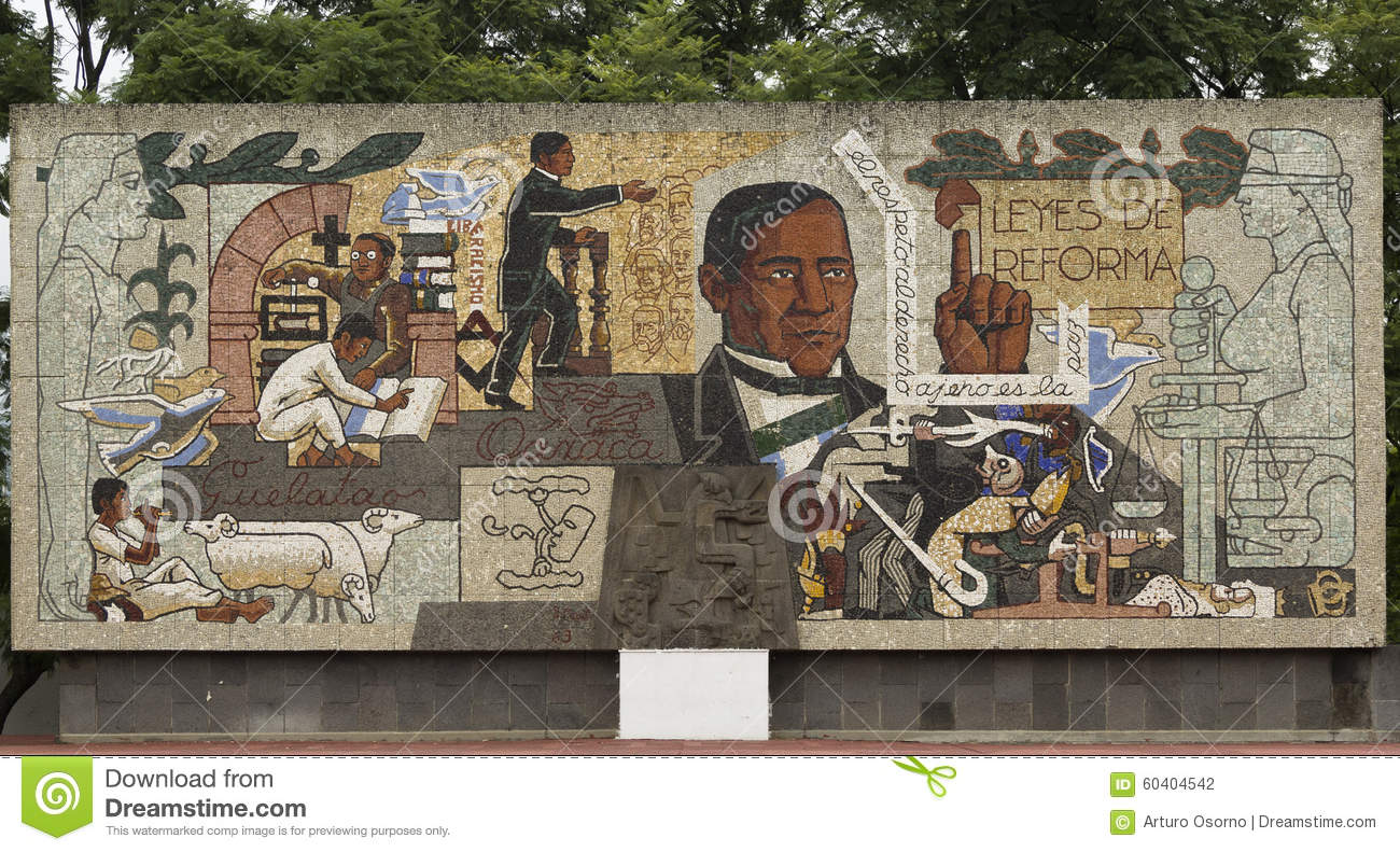Benito juarez editorial photography image 60404542 for Benito juarez mural
