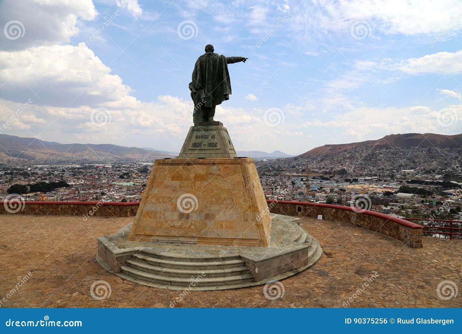 Benito Pablo Juárez García looking over Oaxaca, , Mexico.