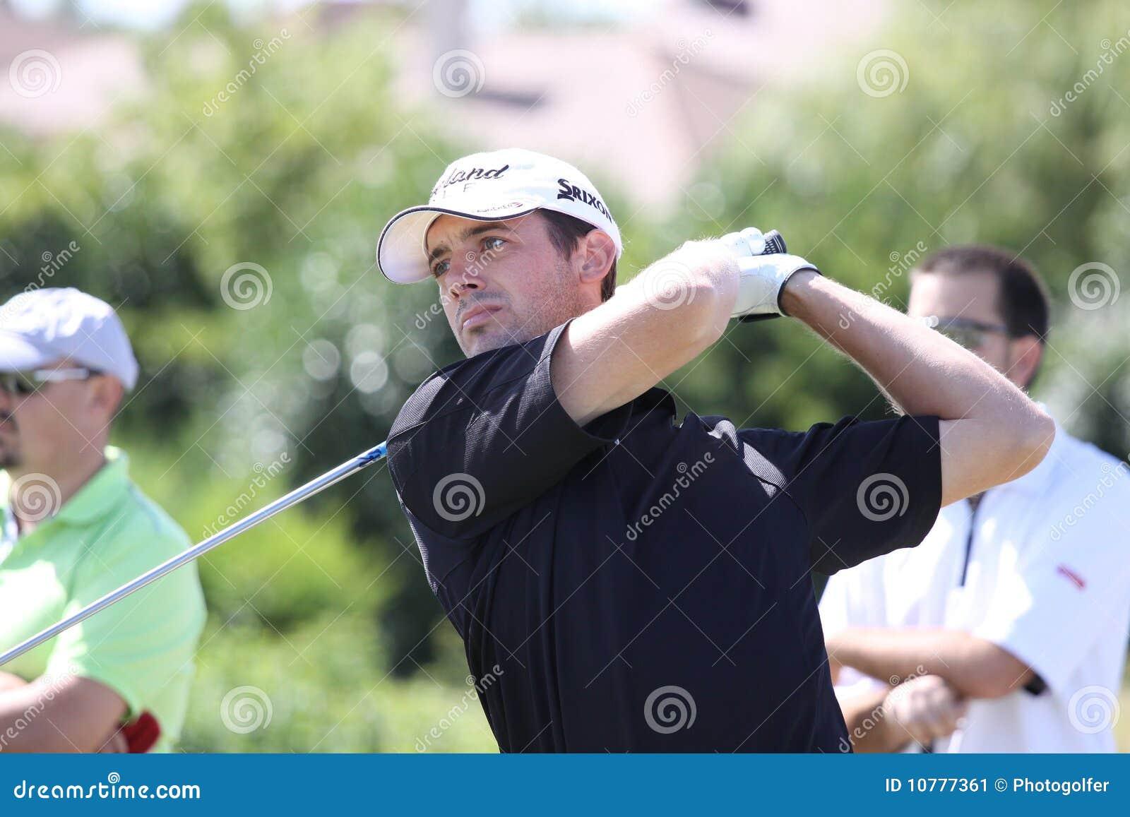 Benjamin Bruneau bij het golf Prevens Trpohee 2009